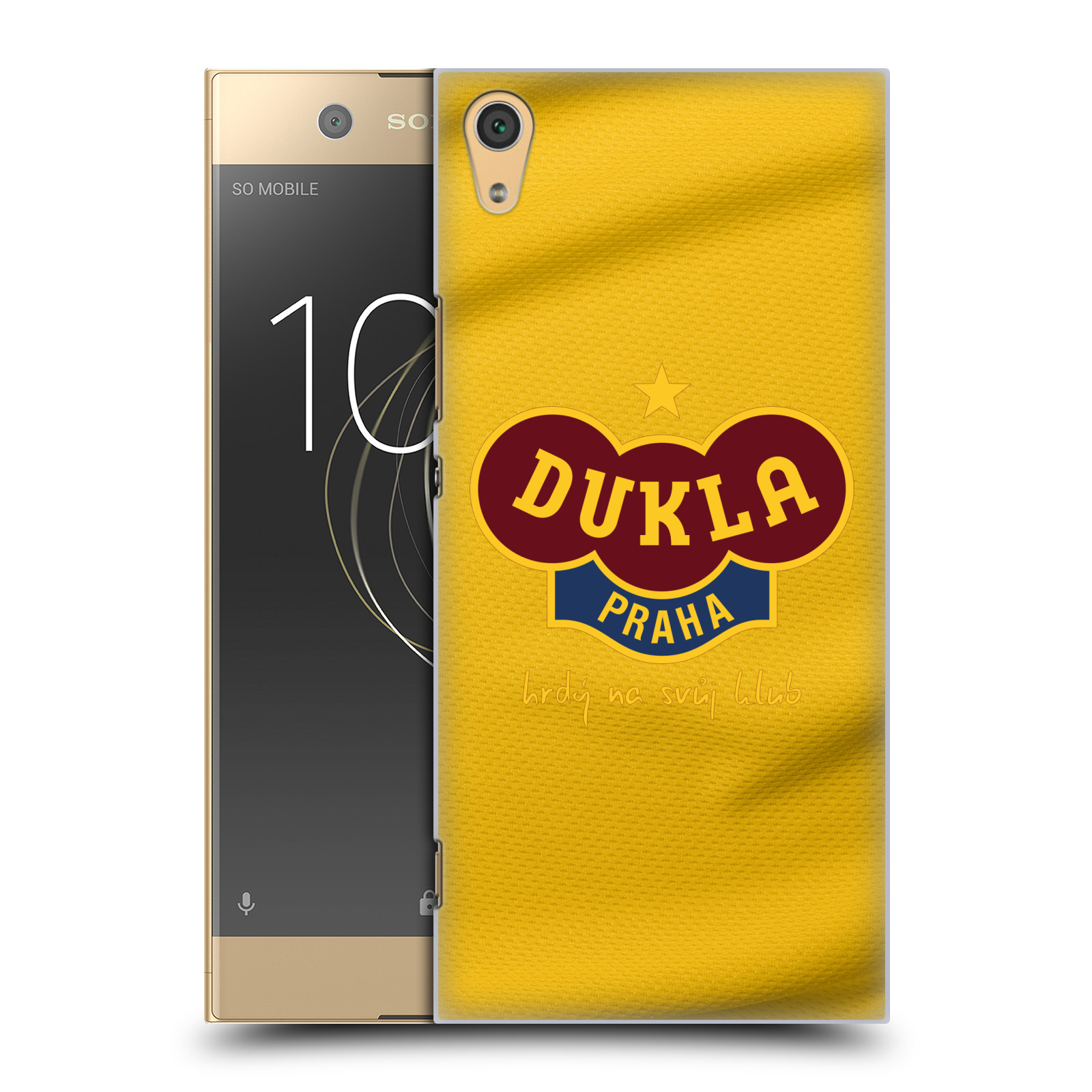 Plastové pouzdro na mobil Sony Xperia XA1 Ultra - FK Dukla Praha - Žlutý dres (Plastové pouzdro na mobil Sony Xperia XA1 Ultra - FK Dukla Praha - Žlutý dres)
