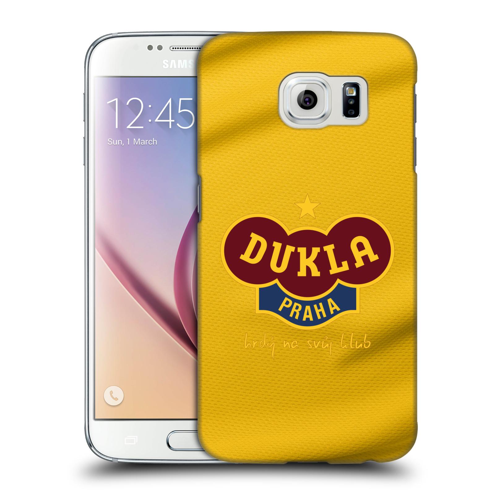 Plastové pouzdro na mobil Samsung Galaxy S6 - FK Dukla Praha - Žlutý dres