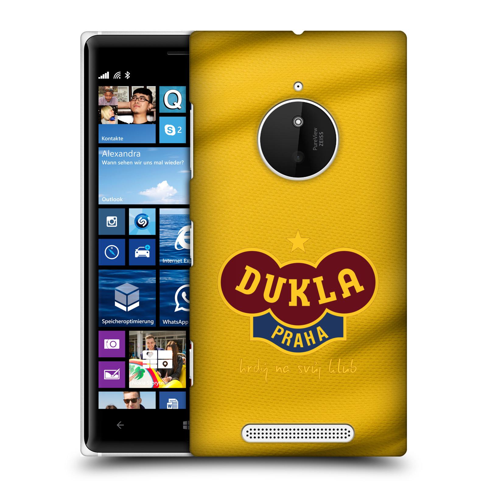 Plastové pouzdro na mobil Nokia Lumia 830 - FK Dukla Praha - Žlutý dres