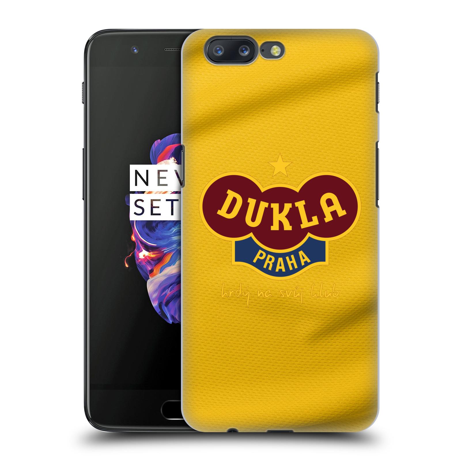 Plastové pouzdro na mobil OnePlus 5 - FK Dukla Praha - Žlutý dres