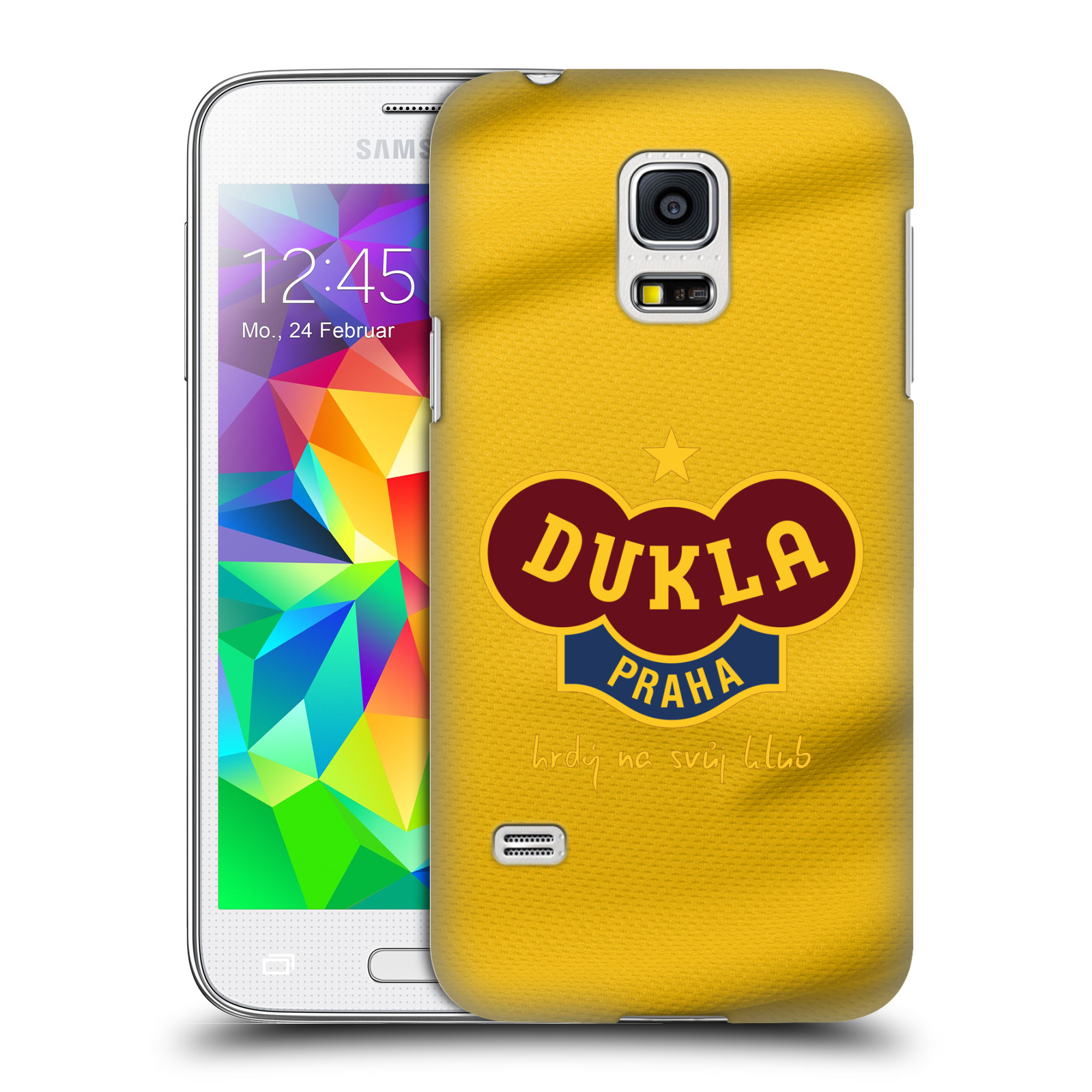 Plastové pouzdro na mobil Samsung Galaxy S5 Mini - FK Dukla Praha - Žlutý dres