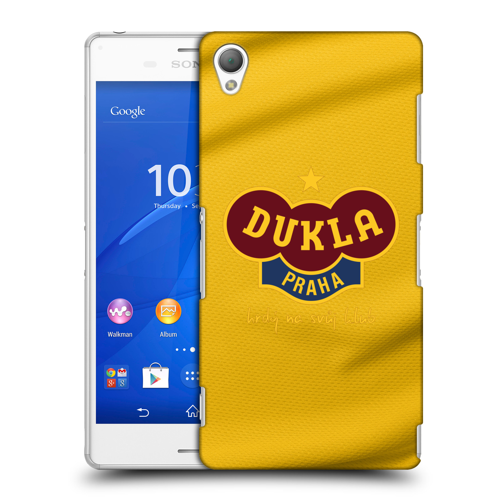 Plastové pouzdro na mobil Sony Xperia Z3 D6603 - FK Dukla Praha - Žlutý dres