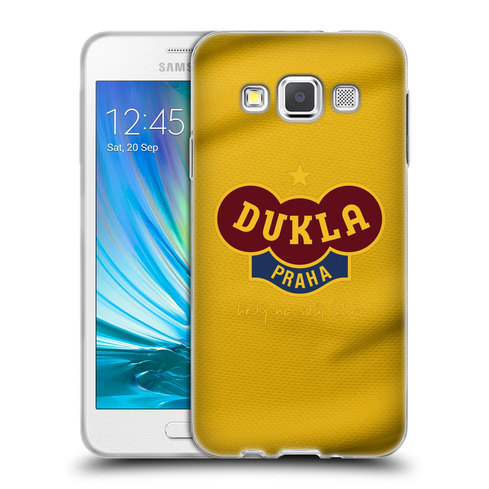 Silikonové pouzdro na mobil Samsung Galaxy A3 - FK Dukla Praha - Žlutý dres