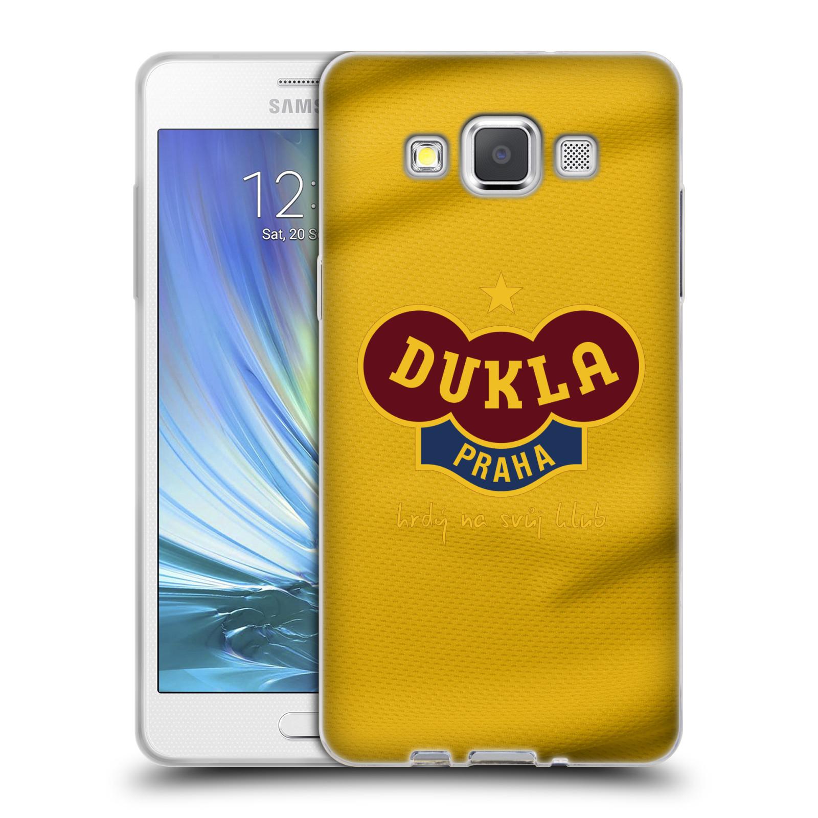 Silikonové pouzdro na mobil Samsung Galaxy A5 - FK Dukla Praha - Žlutý dres