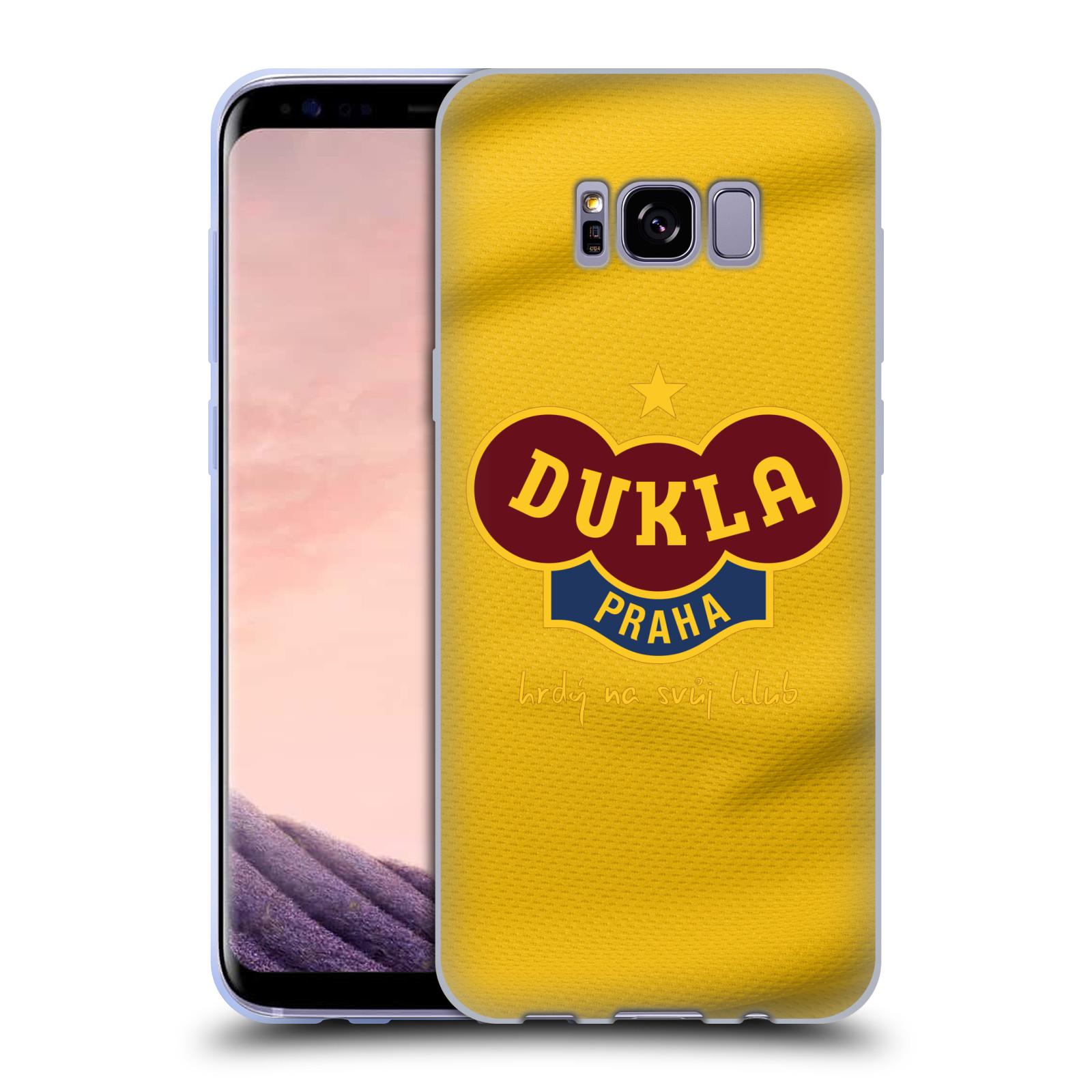 Silikonové pouzdro na mobil Samsung Galaxy S8+ (Plus) - FK Dukla Praha - Žlutý dres