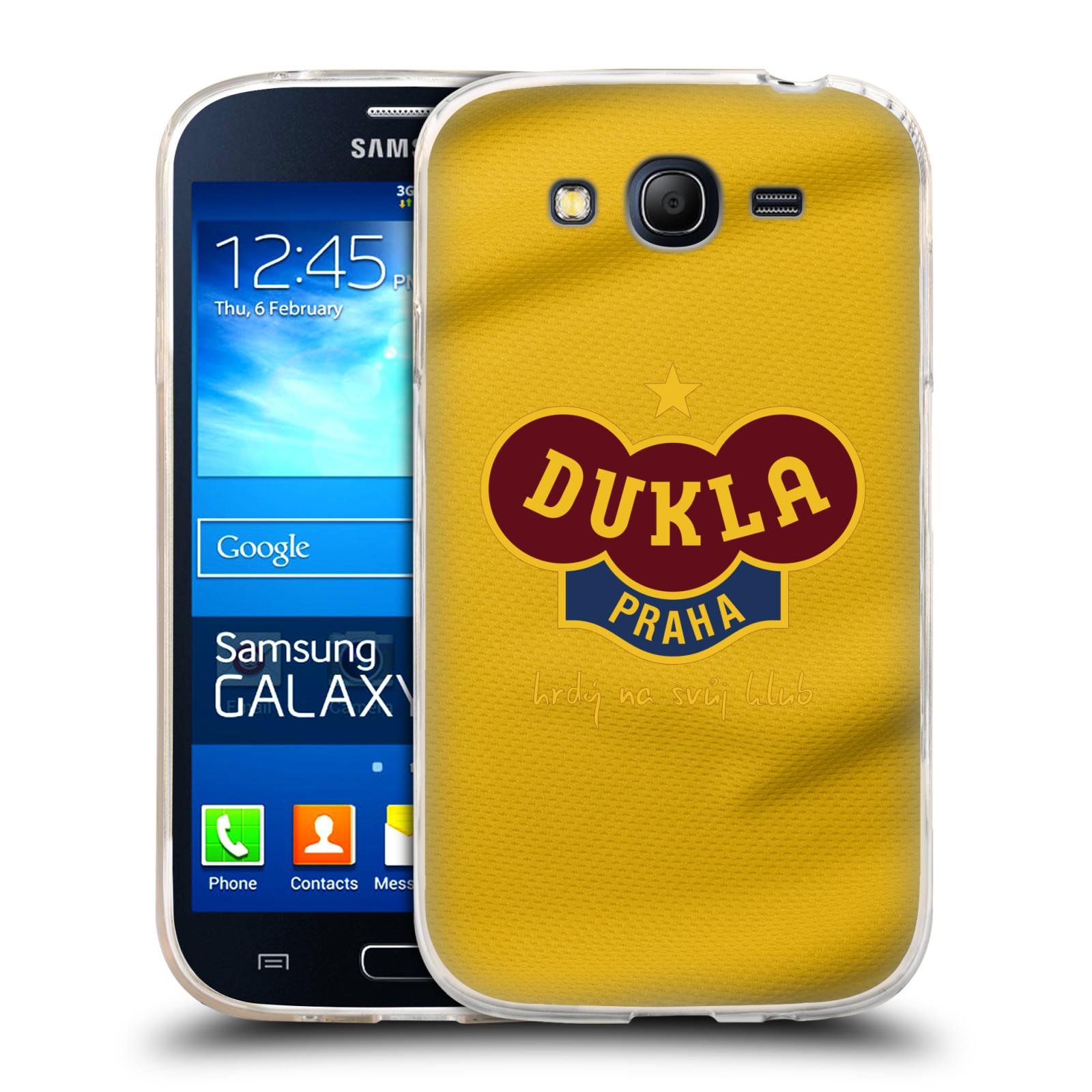 Silikonové pouzdro na mobil Samsung Galaxy Grand Neo Plus - FK Dukla Praha - Žlutý dres