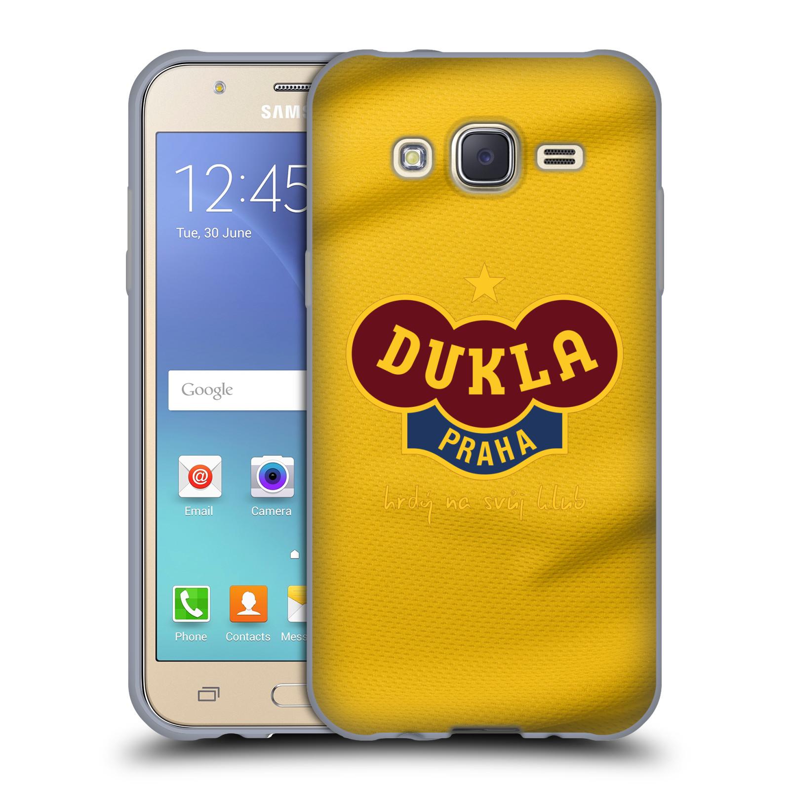 Silikonové pouzdro na mobil Samsung Galaxy J5 - FK Dukla Praha - Žlutý dres