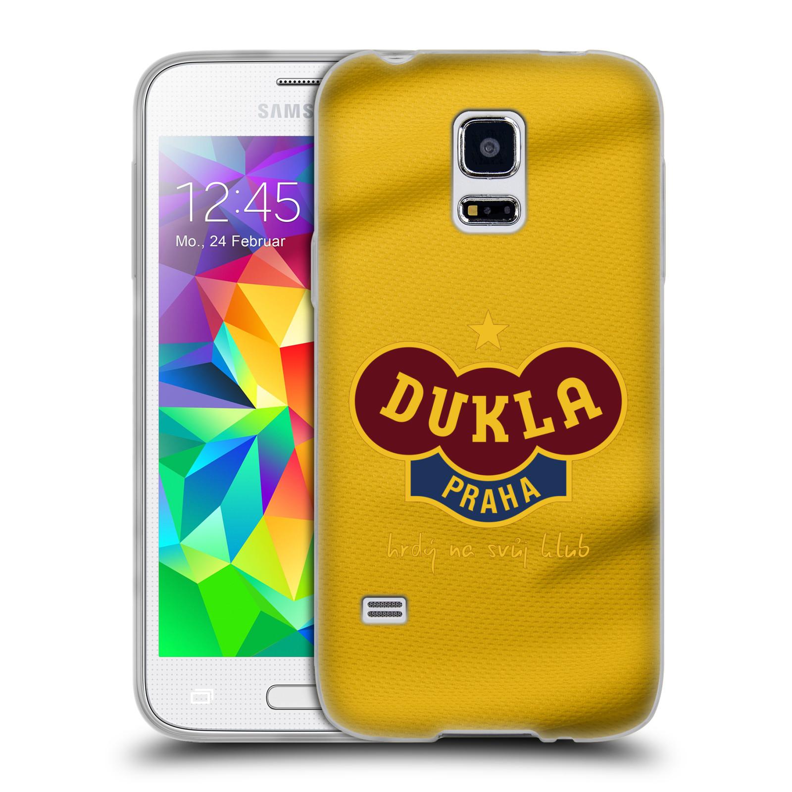 Silikonové pouzdro na mobil Samsung Galaxy S5 Mini - FK Dukla Praha - Žlutý dres