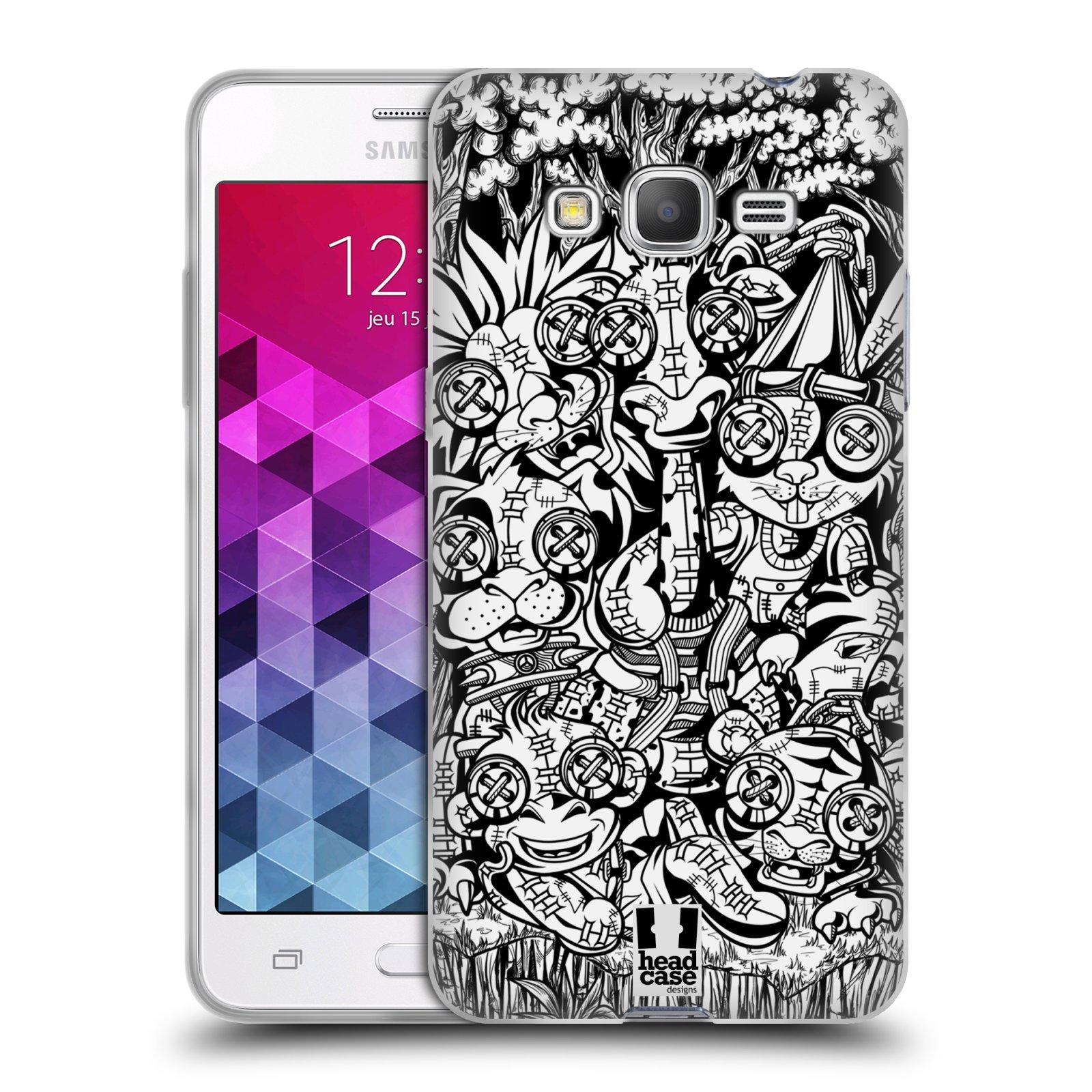 Silikonové pouzdro na mobil Samsung Galaxy Grand Prime VE HEAD CASE VOODOO ZVÍŘÁTKA