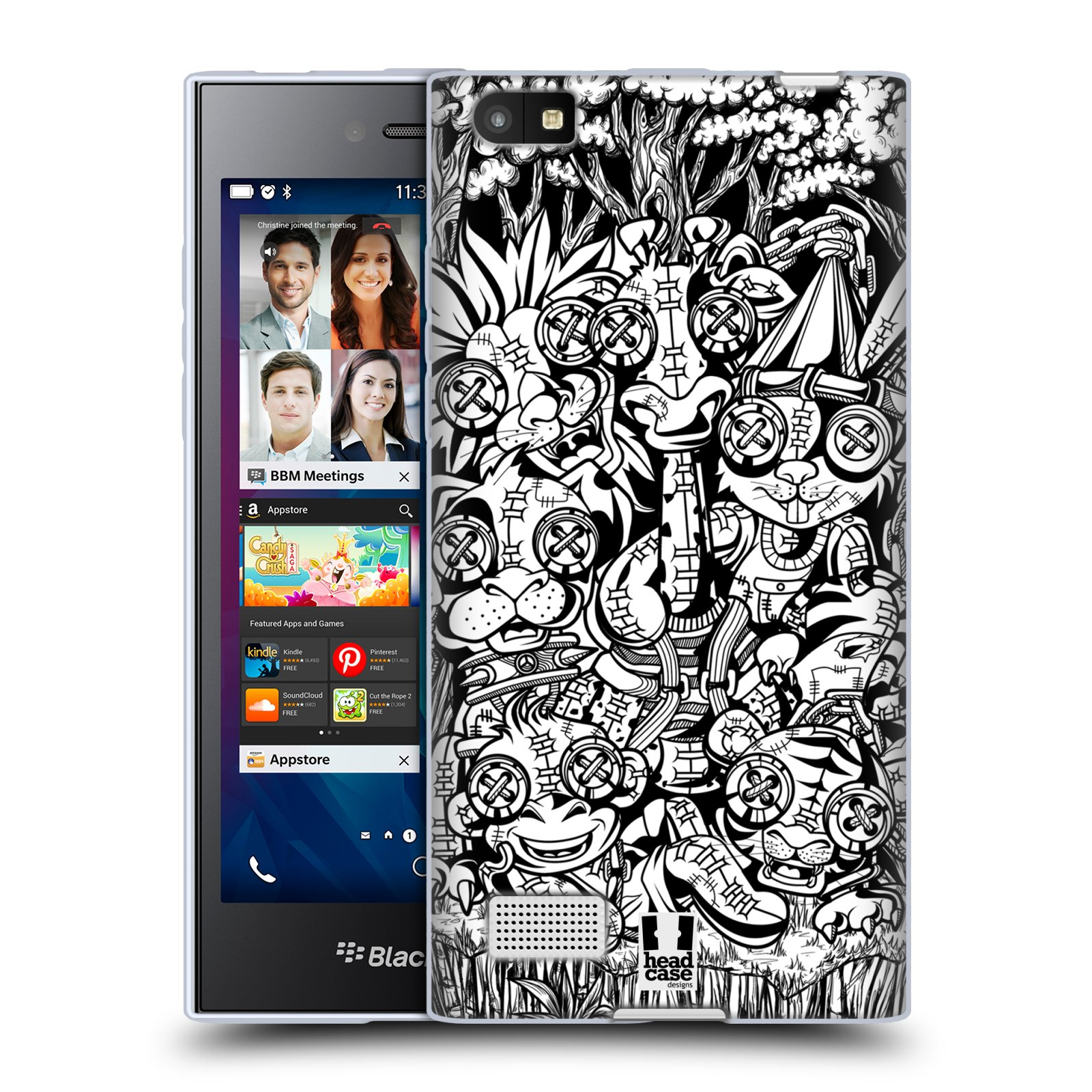 Silikonové pouzdro na mobil Blackberry Leap HEAD CASE VOODOO ZVÍŘÁTKA
