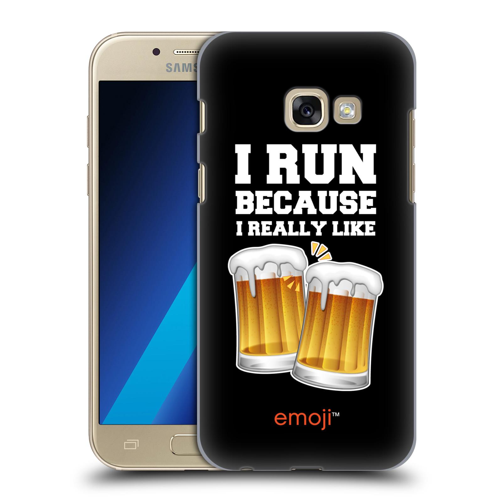 Plastové pouzdro na mobil Samsung Galaxy A3 (2017) HEAD CASE EMOJI - Běhám na pivko