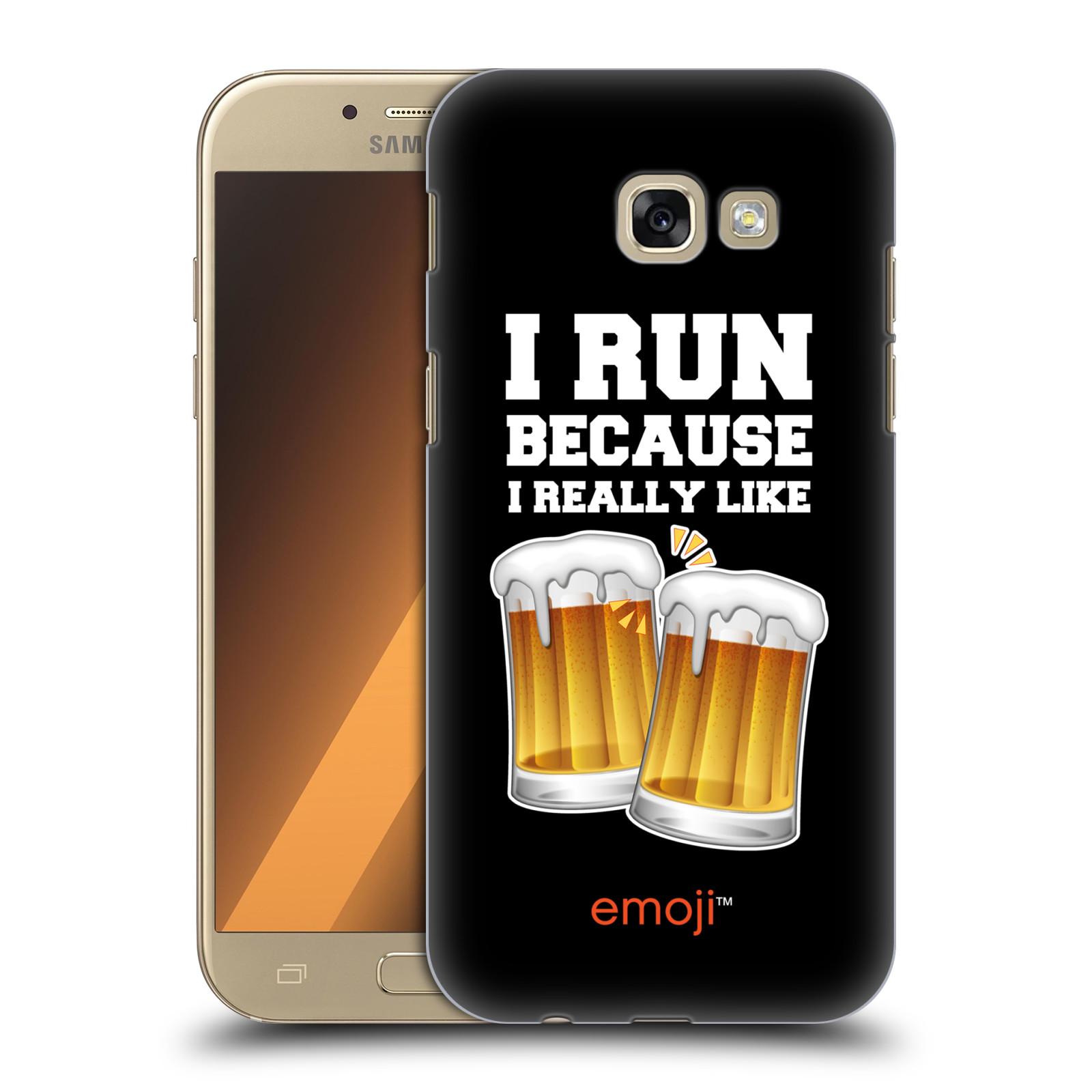 Plastové pouzdro na mobil Samsung Galaxy A5 (2017) HEAD CASE EMOJI - Běhám na pivko
