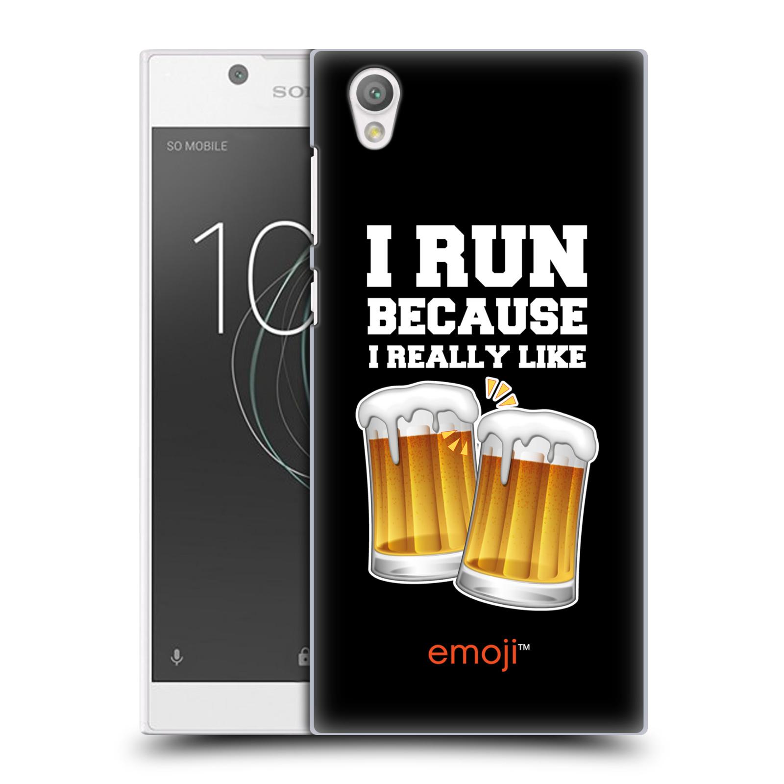 Plastové pouzdro na mobil Sony Xperia L1 - Head Case - EMOJI - Běhám na pivko