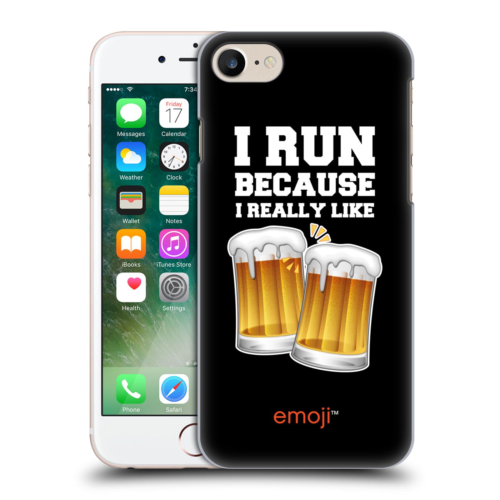 Plastové pouzdro na mobil Apple iPhone 7 HEAD CASE EMOJI - Běhám na pivko