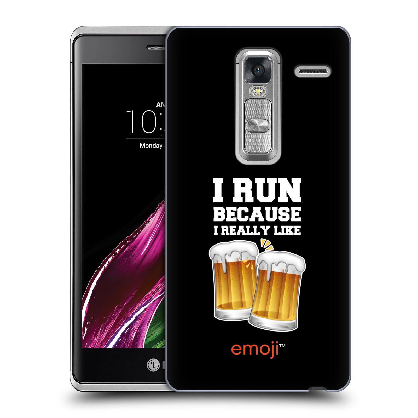 Plastové pouzdro na mobil LG Zero HEAD CASE EMOJI - Běhám na pivko