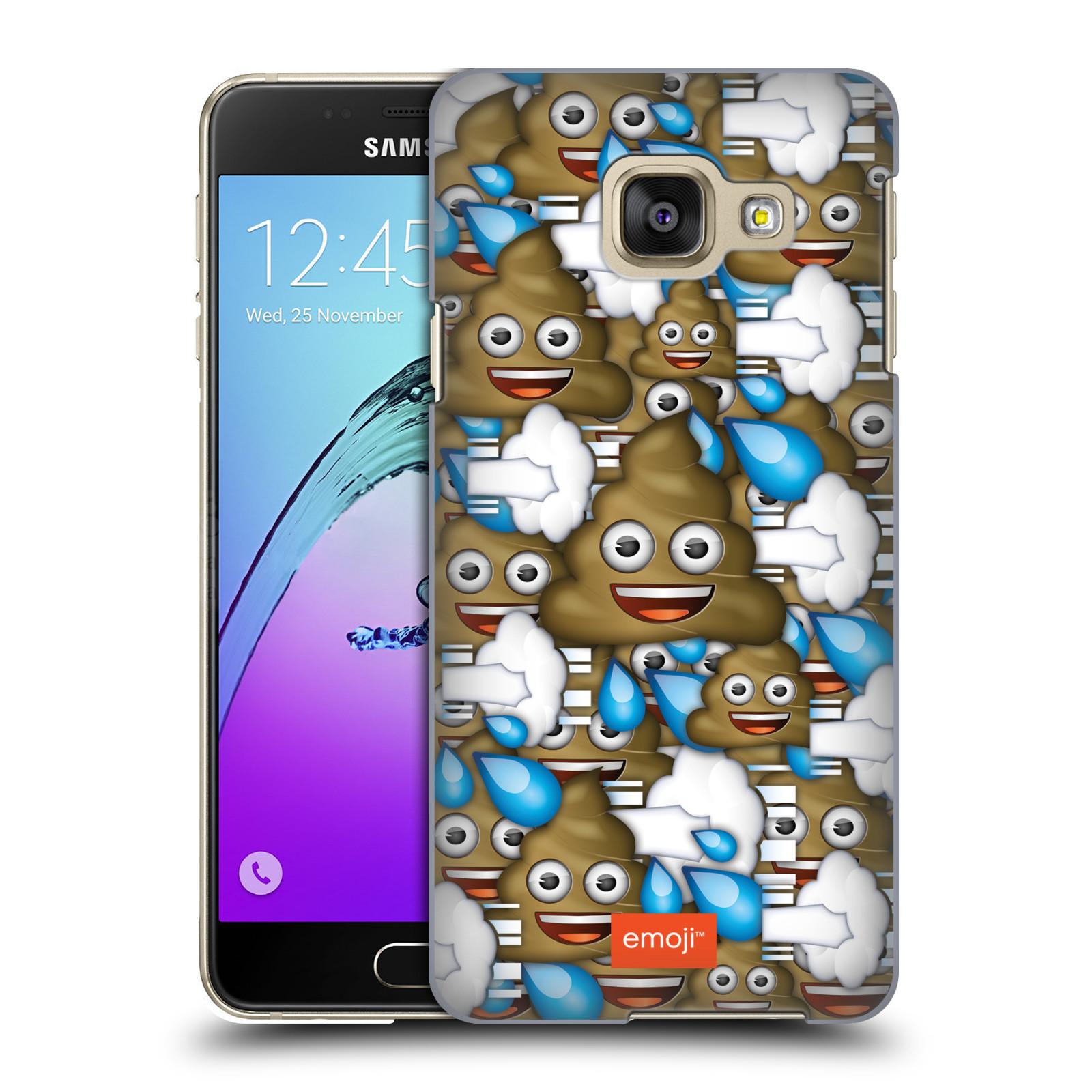 Plastové pouzdro na mobil Samsung Galaxy A3 (2016) HEAD CASE EMOJI - Hovínka a prdíky