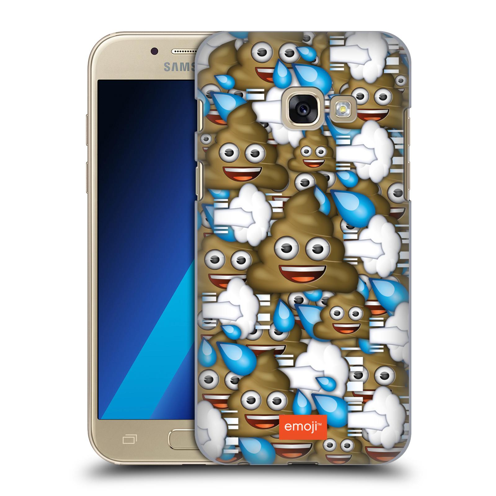 Plastové pouzdro na mobil Samsung Galaxy A3 (2017) HEAD CASE EMOJI - Hovínka a prdíky