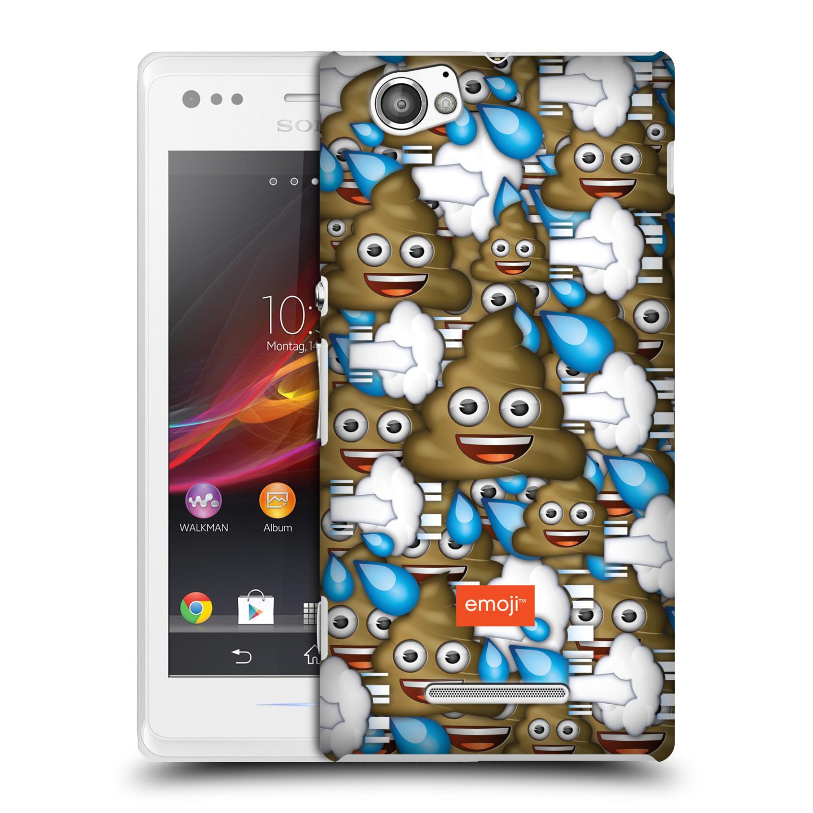 Plastové pouzdro na mobil Sony Xperia M C1905 HEAD CASE EMOJI - Hovínka a prdíky (Kryt či obal s oficiálním motivem EMOJI na mobilní telefon Sony Xperia M )