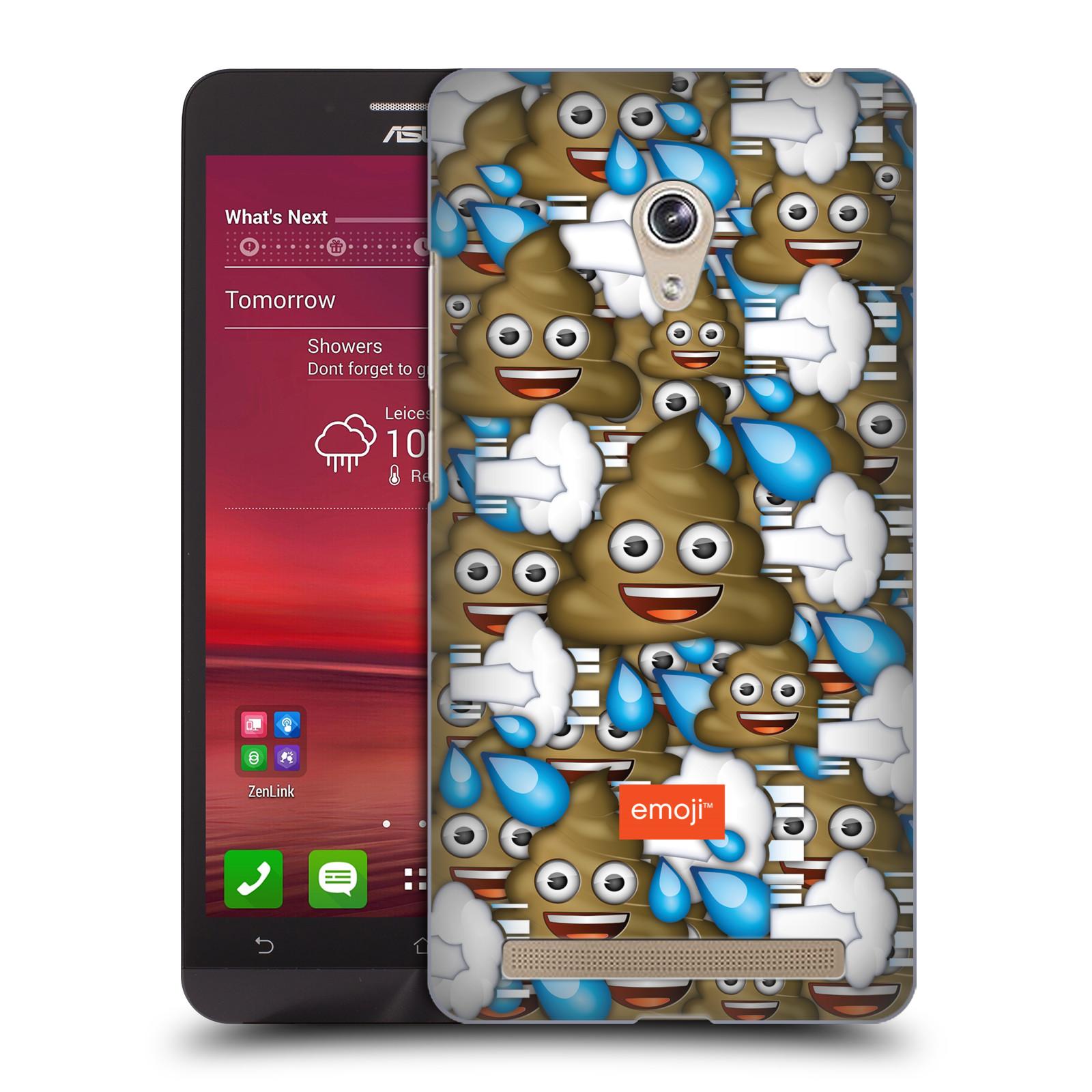 Plastové pouzdro na mobil Asus Zenfone 6 HEAD CASE EMOJI - Hovínka a prdíky (Kryt či obal s oficiálním motivem EMOJI na mobilní telefon Asus Zenfone 6 A600CG / A601CG)