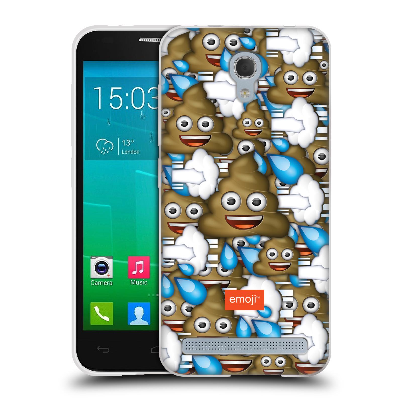 Silikonové pouzdro na mobil Alcatel One Touch Idol 2 Mini S 6036Y HEAD CASE EMOJI - Hovínka a prdíky (Silikonový kryt či obal s oficiálním motivem EMOJI na mobilní telefon Alcatel Idol 2 Mini S OT-6036Y)