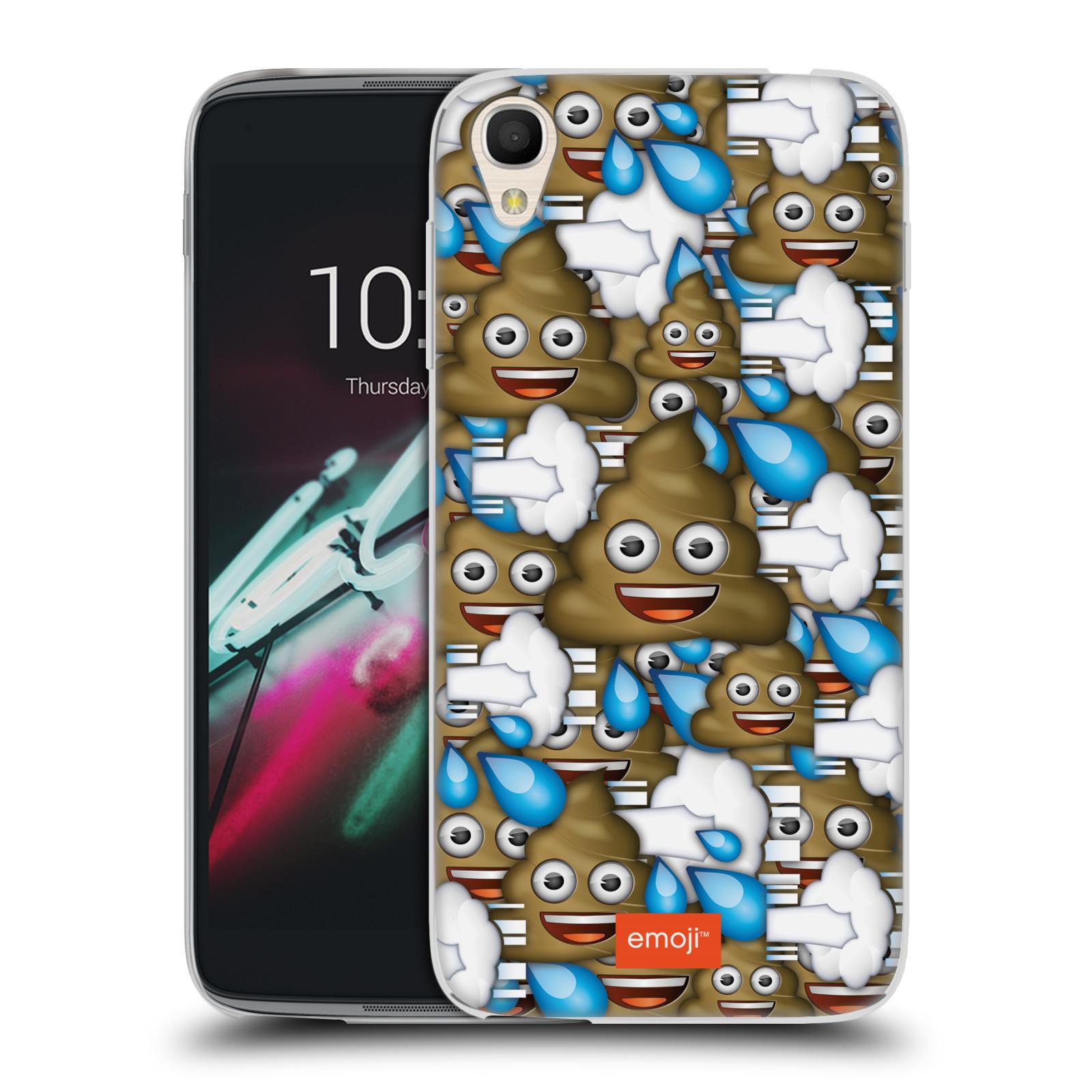 """Silikonové pouzdro na mobil Alcatel One Touch 6039Y Idol 3 HEAD CASE EMOJI - Hovínka a prdíky (Silikonový kryt či obal s oficiálním motivem EMOJI na mobilní telefon Alcatel One Touch Idol 3 OT-6039Y s 4,7"""" displejem)"""