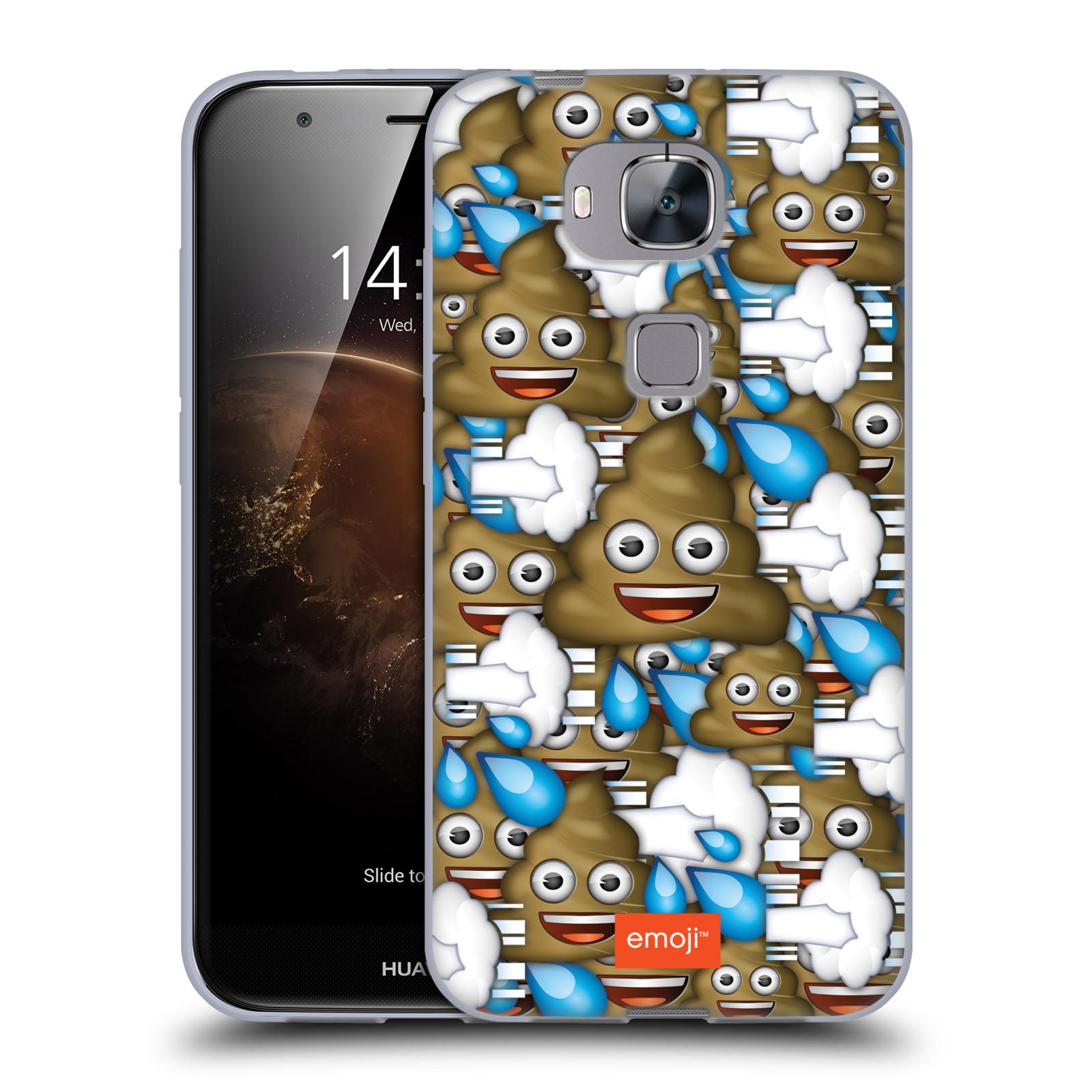 Silikonové pouzdro na mobil Huawei G8 / GX8 HEAD CASE EMOJI - Hovínka a prdíky