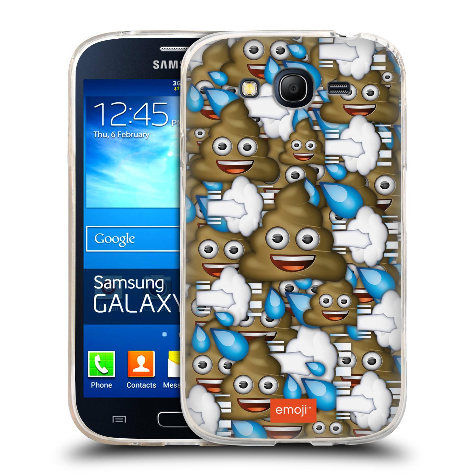 Silikonové pouzdro na mobil Samsung Galaxy Grand Neo Plus HEAD CASE EMOJI - Hovínka a prdíky (Silikonový kryt či obal s oficiálním motivem EMOJI na mobilní telefon Samsung Galaxy Grand Neo Plus Duos GT-I9060i)