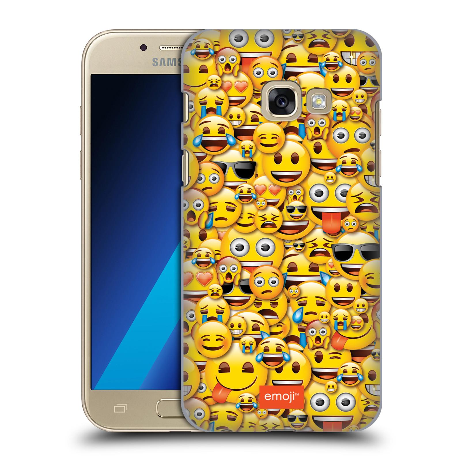 Plastové pouzdro na mobil Samsung Galaxy A3 (2017) HEAD CASE EMOJI - Mnoho malých smajlíků