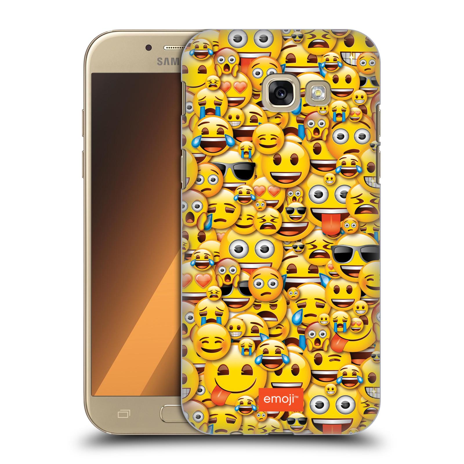 Plastové pouzdro na mobil Samsung Galaxy A5 (2017) HEAD CASE EMOJI - Mnoho malých smajlíků