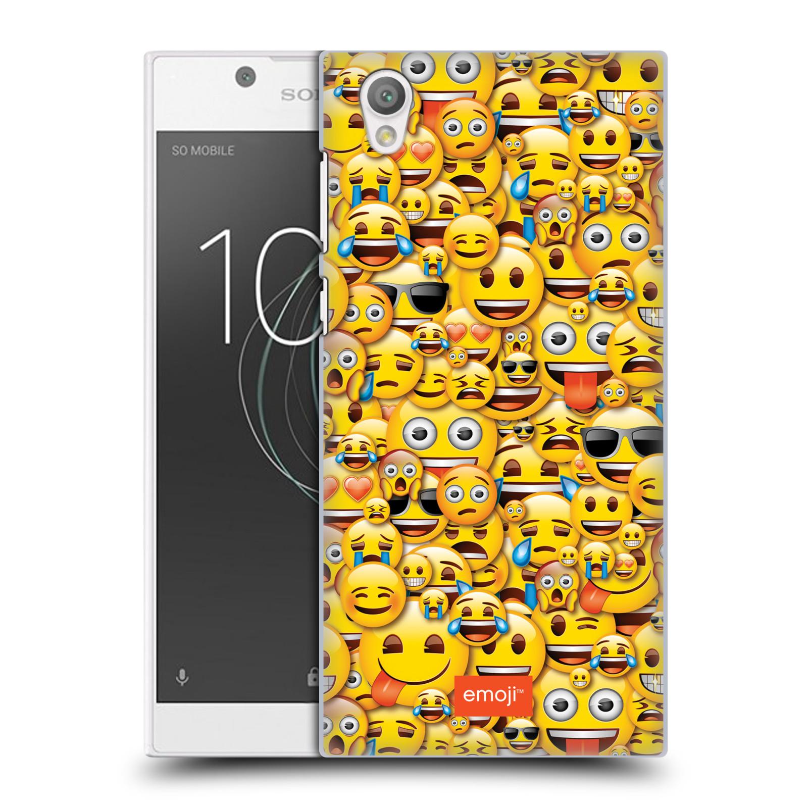 Plastové pouzdro na mobil Sony Xperia L1 - Head Case - EMOJI - Mnoho malých smajlíků