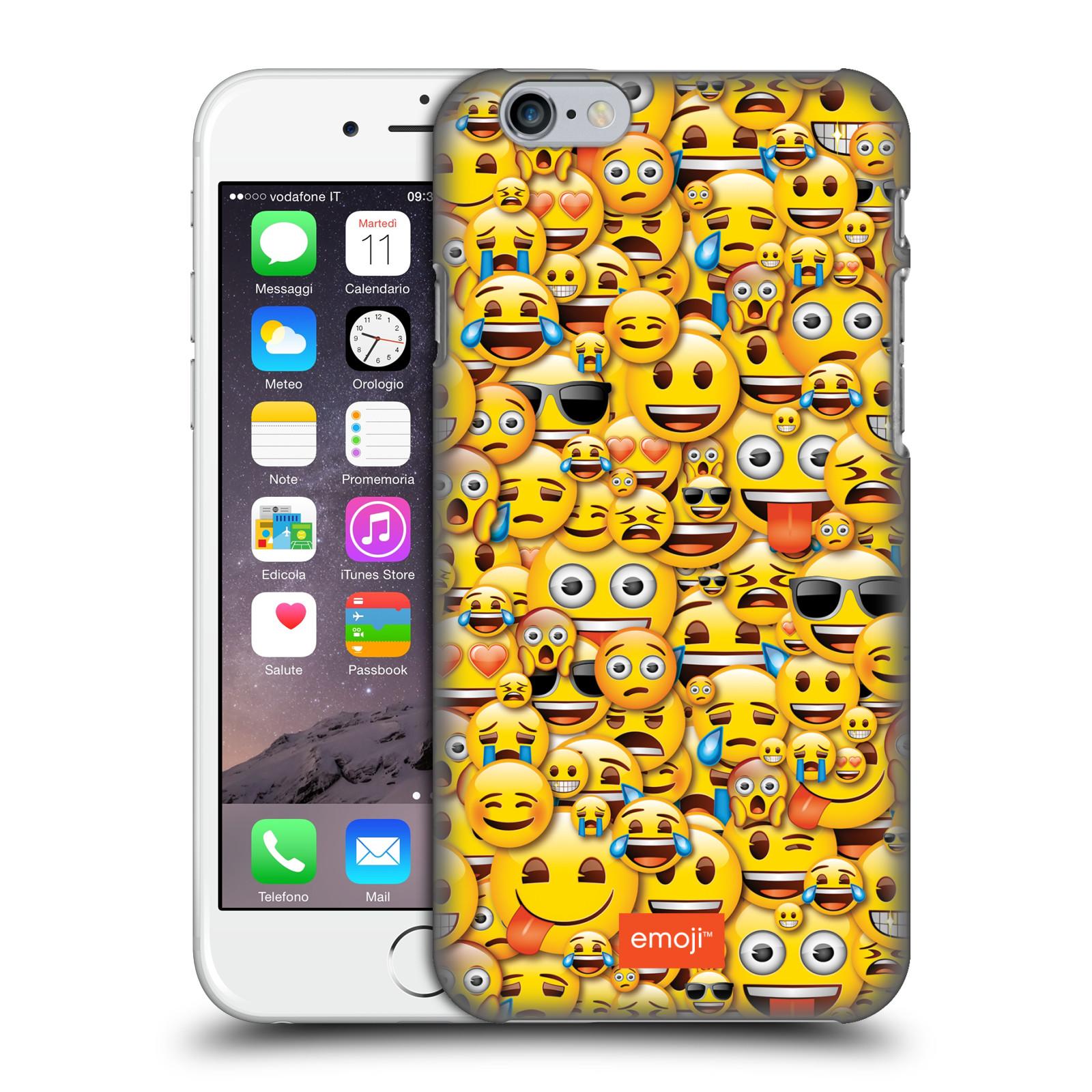 Plastové pouzdro na mobil Apple iPhone 6 HEAD CASE EMOJI - Mnoho malých smajlíků
