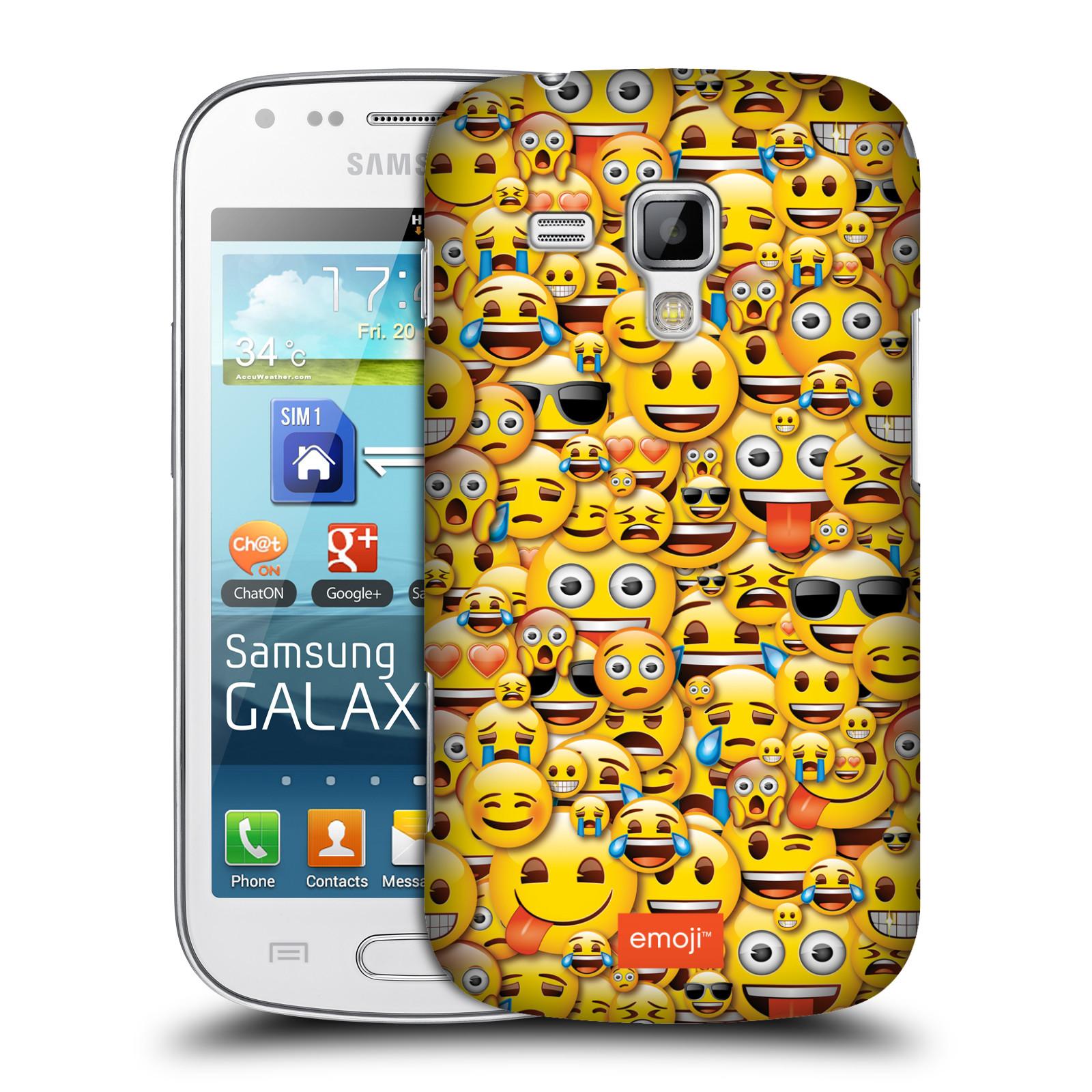 Plastové pouzdro na mobil Samsung Galaxy Trend Plus HEAD CASE EMOJI - Mnoho malých smajlíků