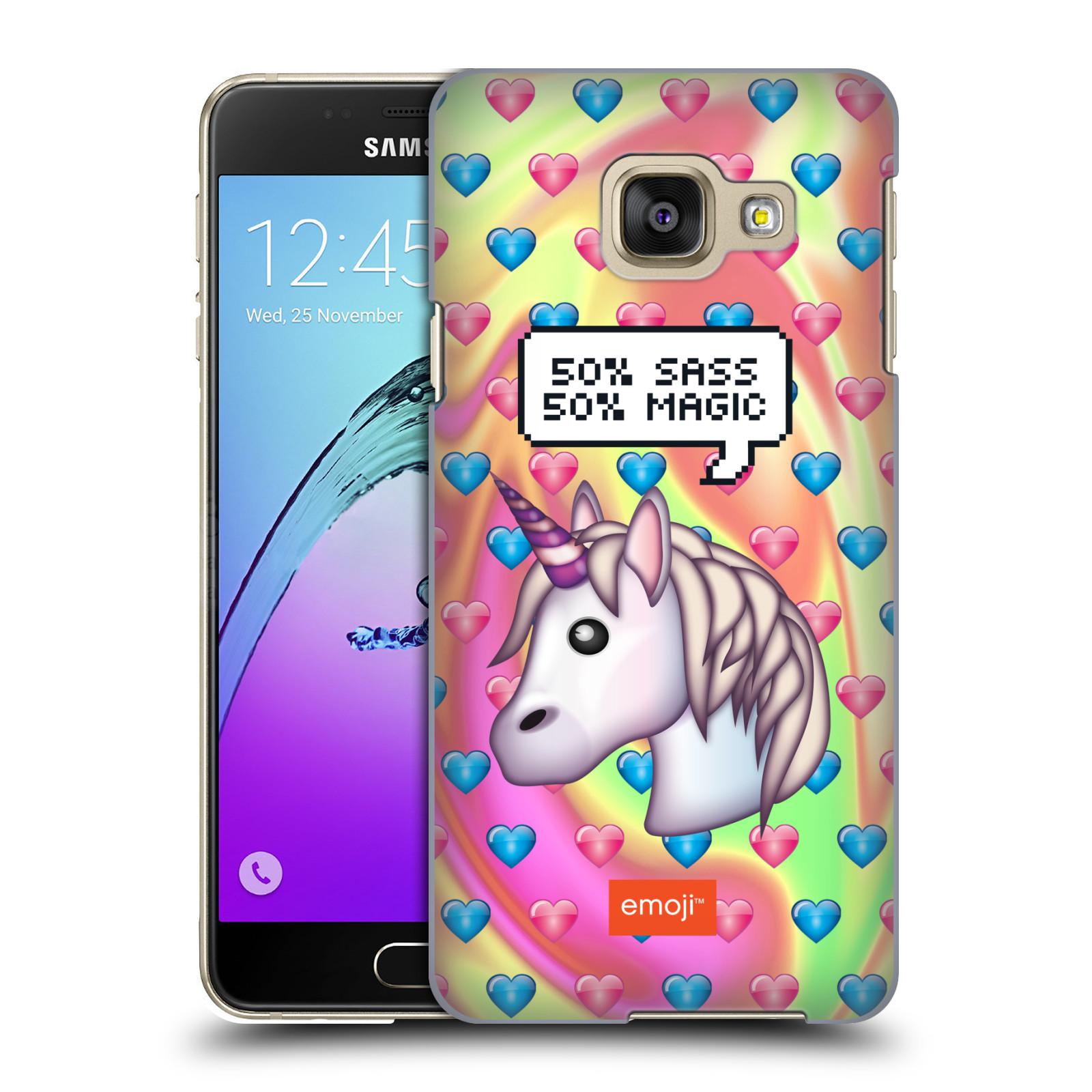 Plastové pouzdro na mobil Samsung Galaxy A3 (2016) HEAD CASE EMOJI - Jednorožec