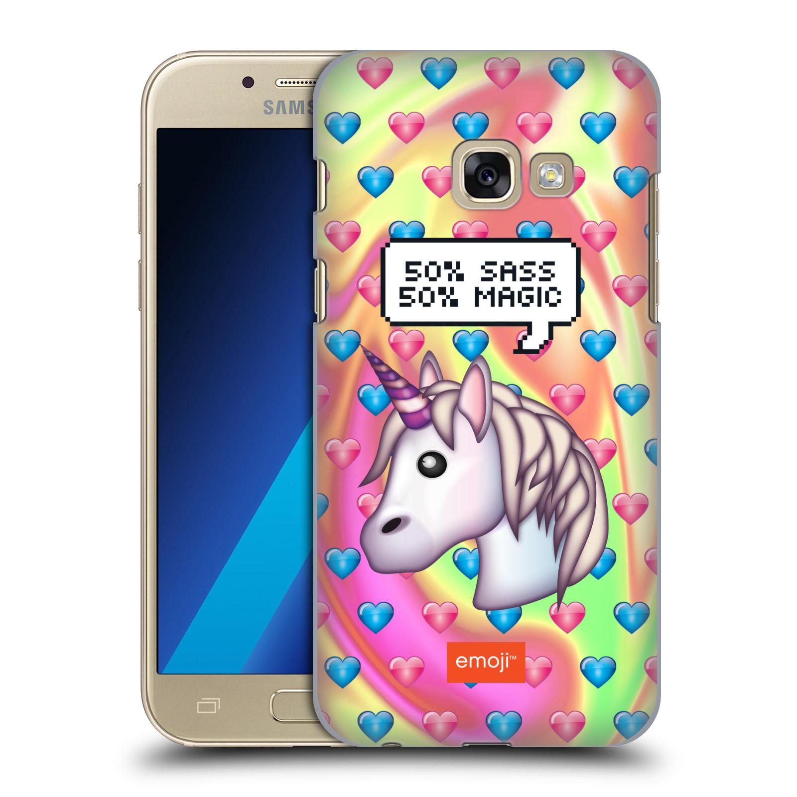 Plastové pouzdro na mobil Samsung Galaxy A3 (2017) HEAD CASE EMOJI - Jednorožec