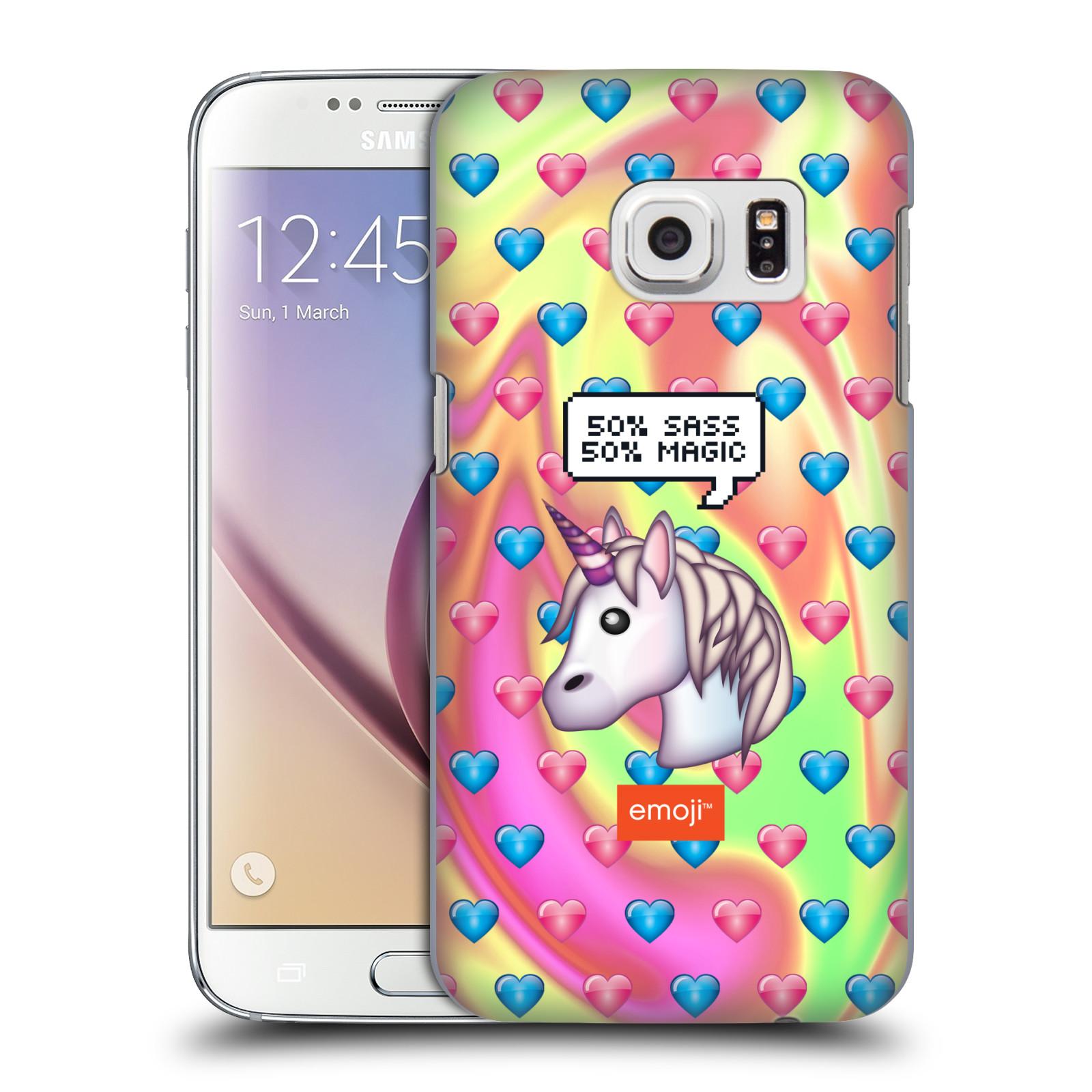 Plastové pouzdro na mobil Samsung Galaxy S7 HEAD CASE EMOJI - Jednorožec (Kryt či obal s oficiálním motivem EMOJI na mobilní telefon Samsung Galaxy S7 SM-G930F)