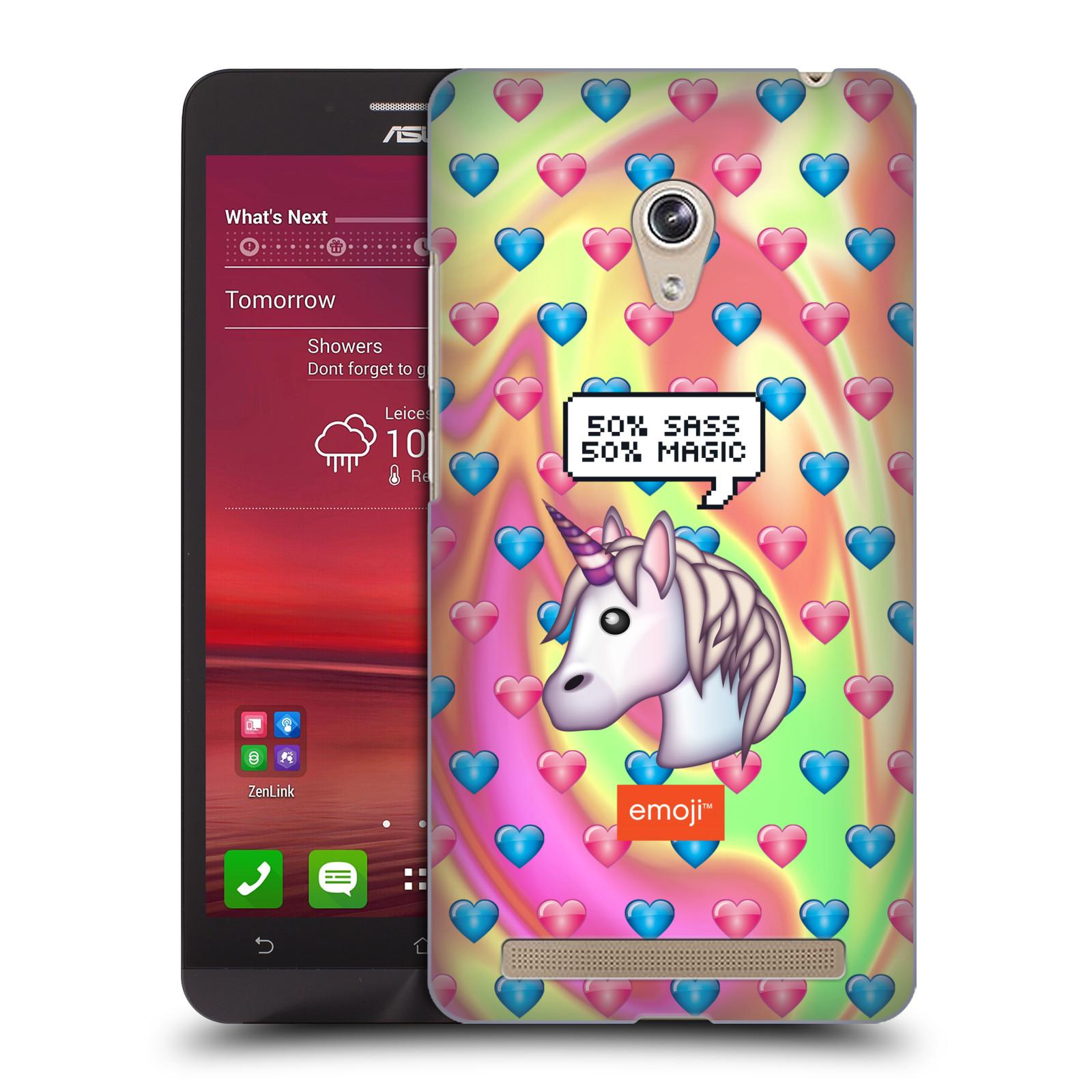 Plastové pouzdro na mobil Asus Zenfone 6 HEAD CASE EMOJI - Jednorožec (Kryt či obal s oficiálním motivem EMOJI na mobilní telefon Asus Zenfone 6 A600CG / A601CG)