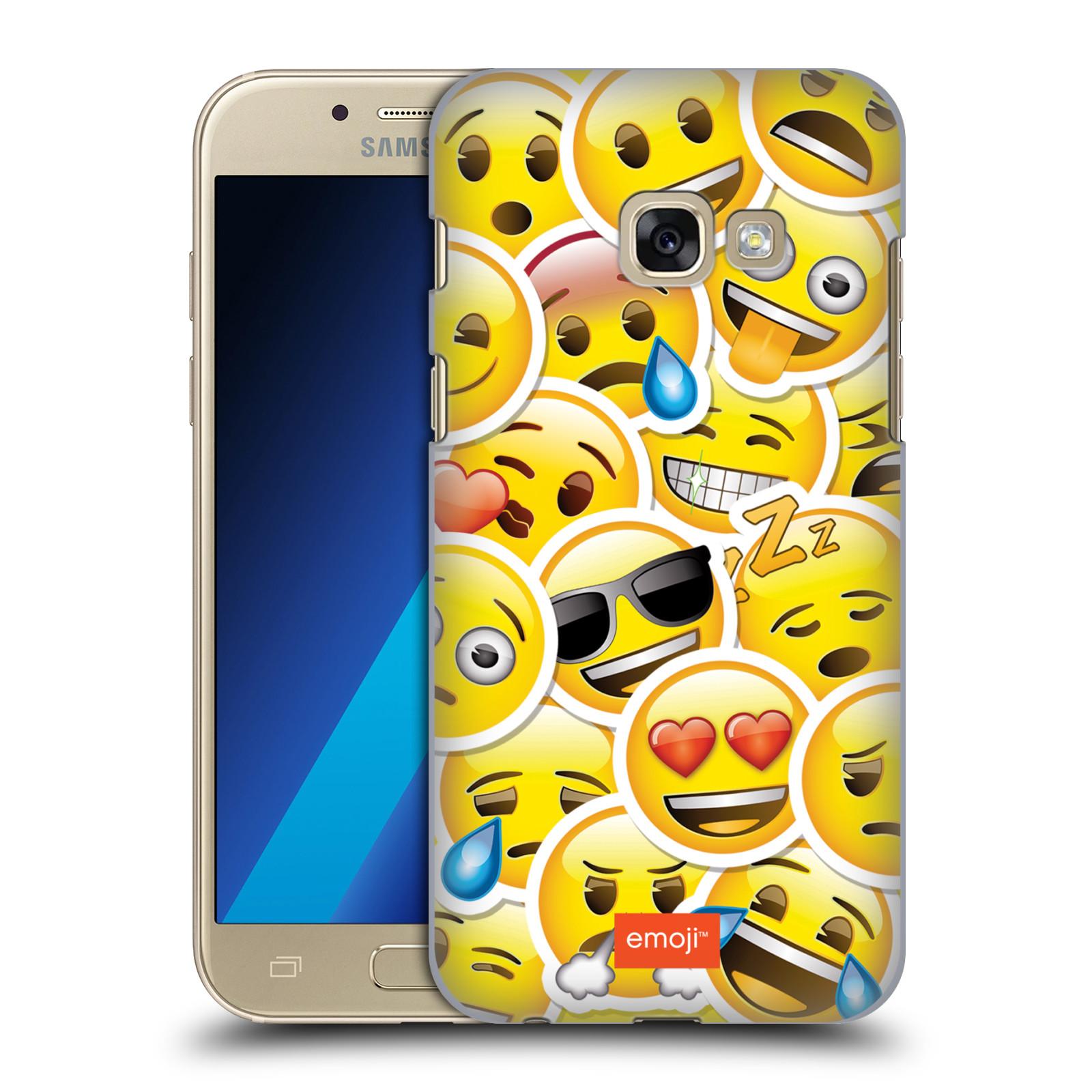 Plastové pouzdro na mobil Samsung Galaxy A3 (2017) HEAD CASE EMOJI - Velcí smajlíci ZZ