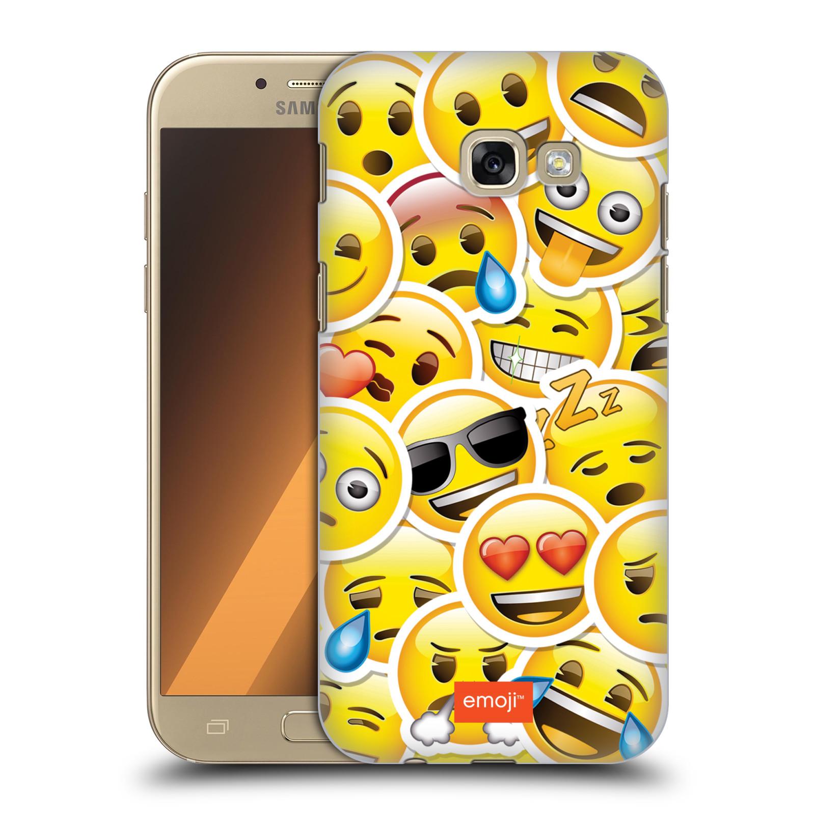 Plastové pouzdro na mobil Samsung Galaxy A5 (2017) HEAD CASE EMOJI - Velcí smajlíci ZZ