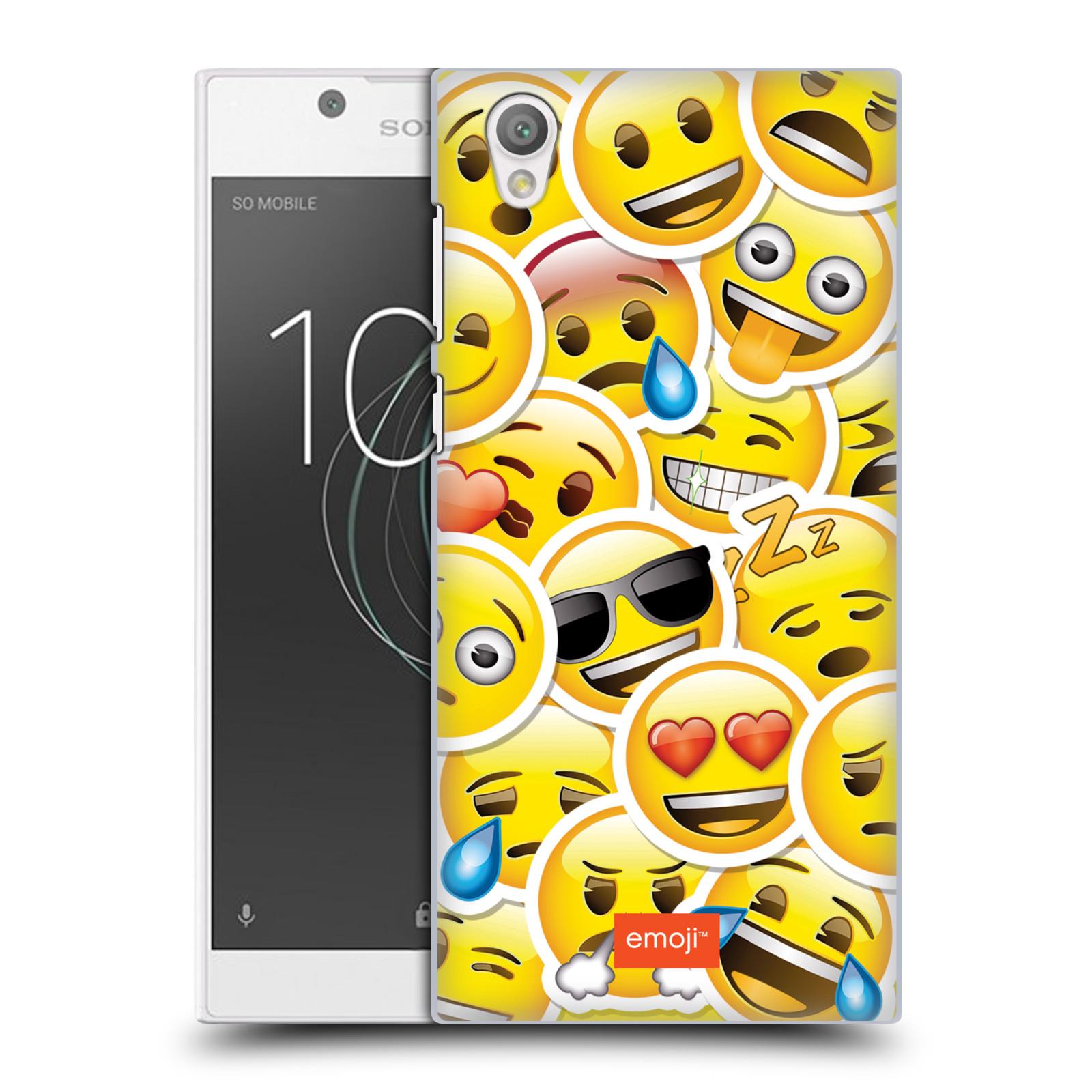 Plastové pouzdro na mobil Sony Xperia L1 - Head Case - EMOJI - Velcí smajlíci ZZ