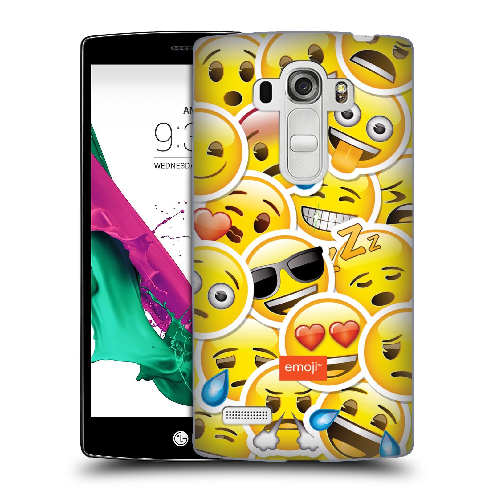 Plastové pouzdro na mobil LG G4s HEAD CASE EMOJI - Velcí smajlíci ZZ