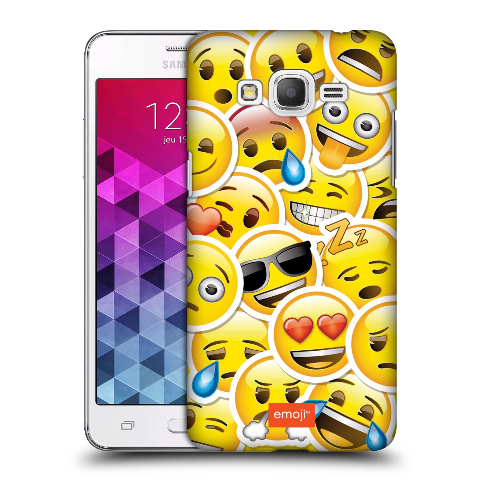 Plastové pouzdro na mobil Samsung Galaxy Grand Prime HEAD CASE EMOJI - Velcí smajlíci ZZ
