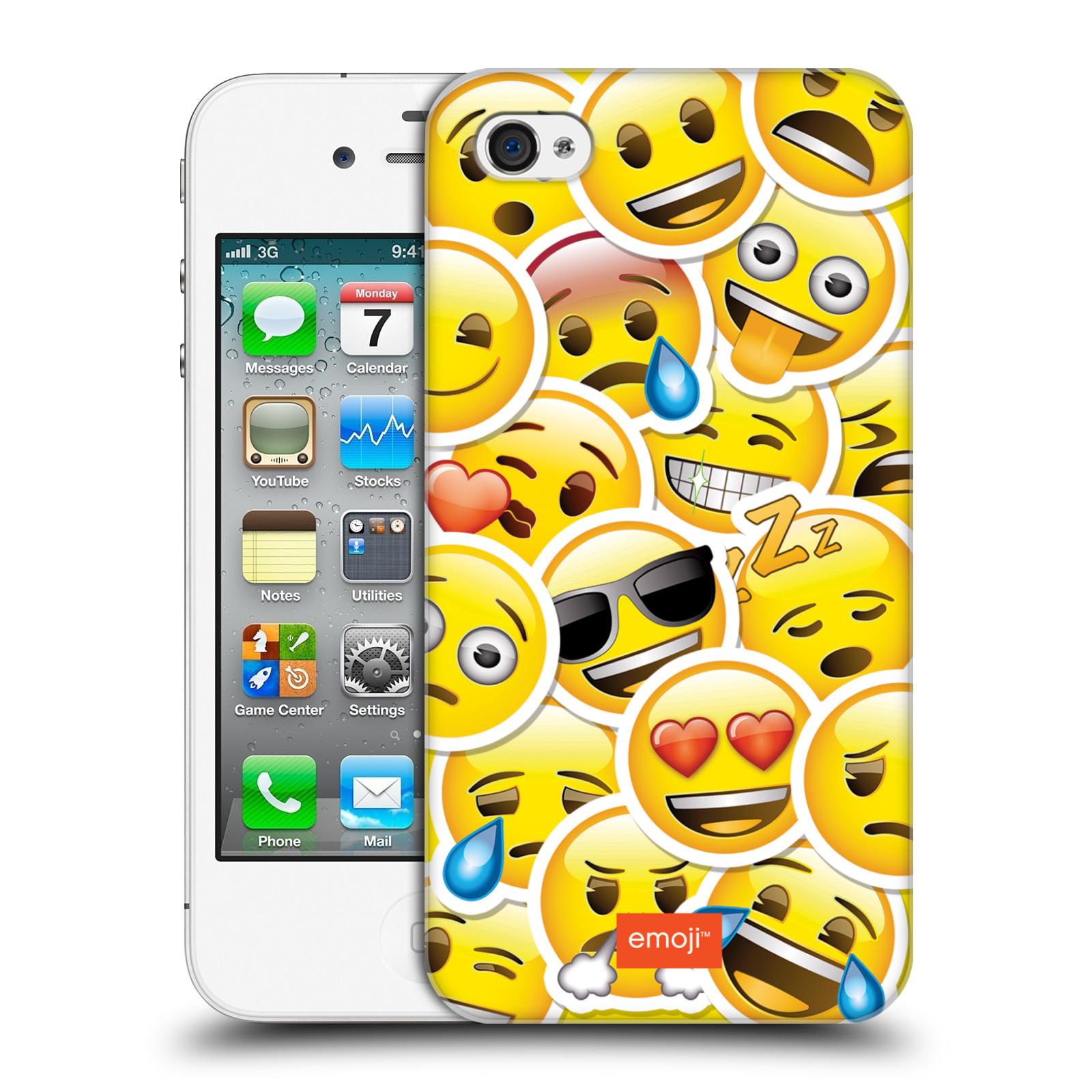 Plastové pouzdro na mobil Apple iPhone 4 a 4S HEAD CASE EMOJI - Velcí  smajlíci ZZ 11bb51042b0