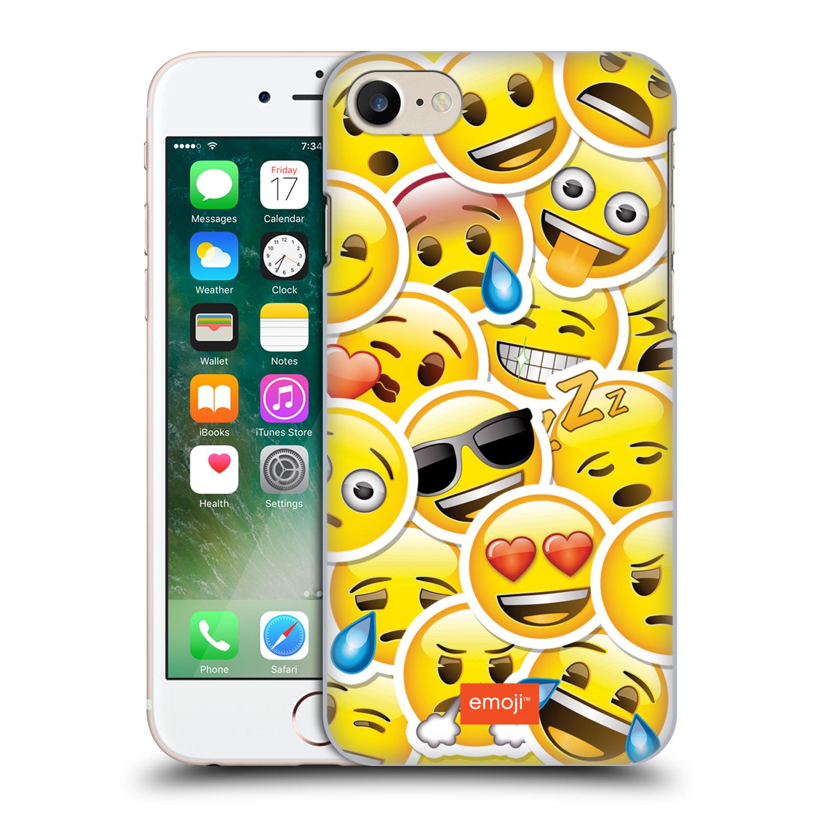 Plastové pouzdro na mobil Apple iPhone 7 HEAD CASE EMOJI - Velcí smajlíci ZZ
