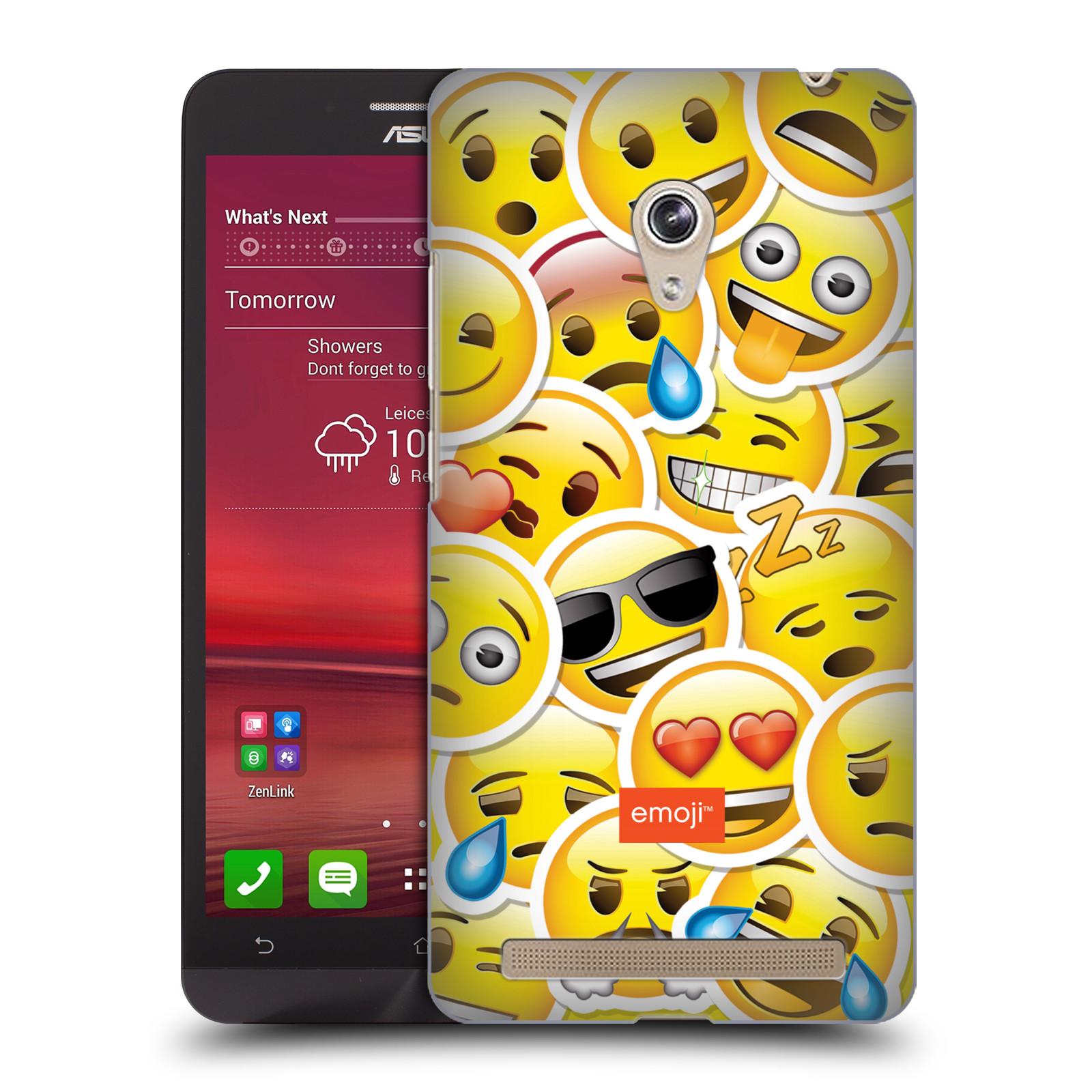 Plastové pouzdro na mobil Asus Zenfone 6 HEAD CASE EMOJI - Velcí smajlíci ZZ (Kryt či obal s oficiálním motivem EMOJI na mobilní telefon Asus Zenfone 6 A600CG / A601CG)