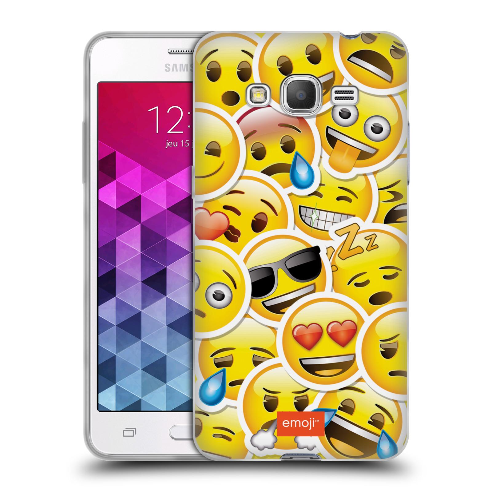 Silikonové pouzdro na mobil Samsung Galaxy Grand Prime HEAD CASE EMOJI - Velcí smajlíci ZZ