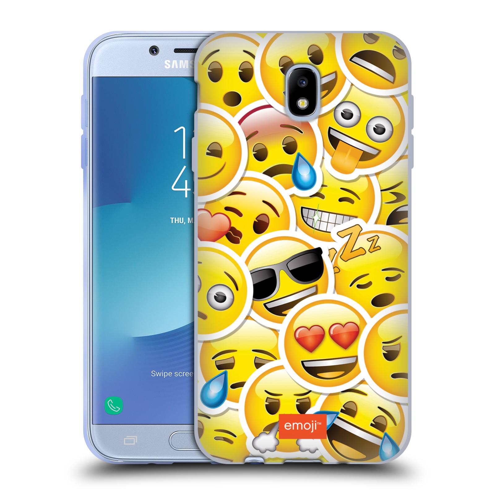 Silikonové pouzdro na mobil Samsung Galaxy J7 (2017) - Head Case - EMOJI - Velcí smajlíci ZZ