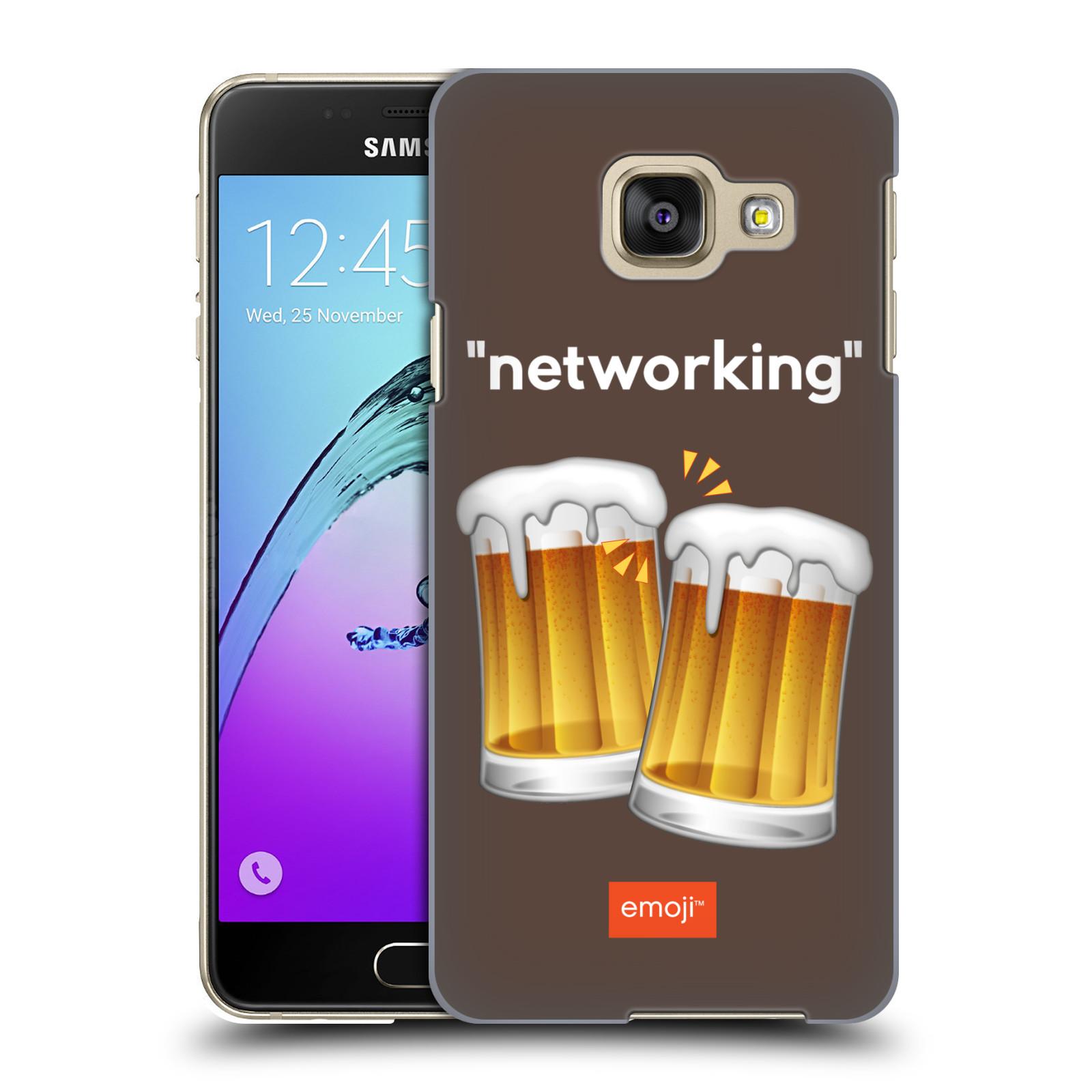 Plastové pouzdro na mobil Samsung Galaxy A3 (2016) HEAD CASE EMOJI - Pivní networking