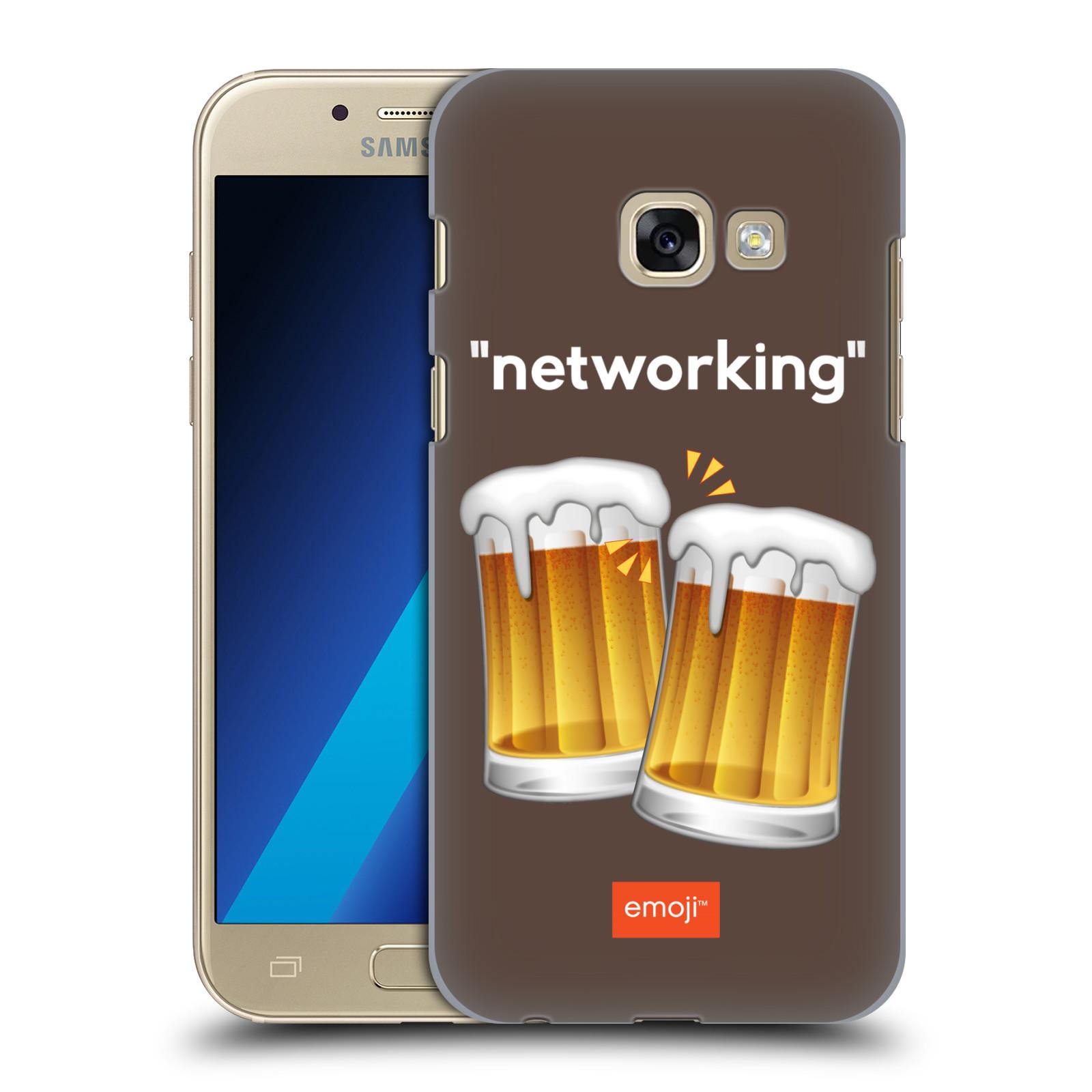 Plastové pouzdro na mobil Samsung Galaxy A3 (2017) HEAD CASE EMOJI - Pivní networking