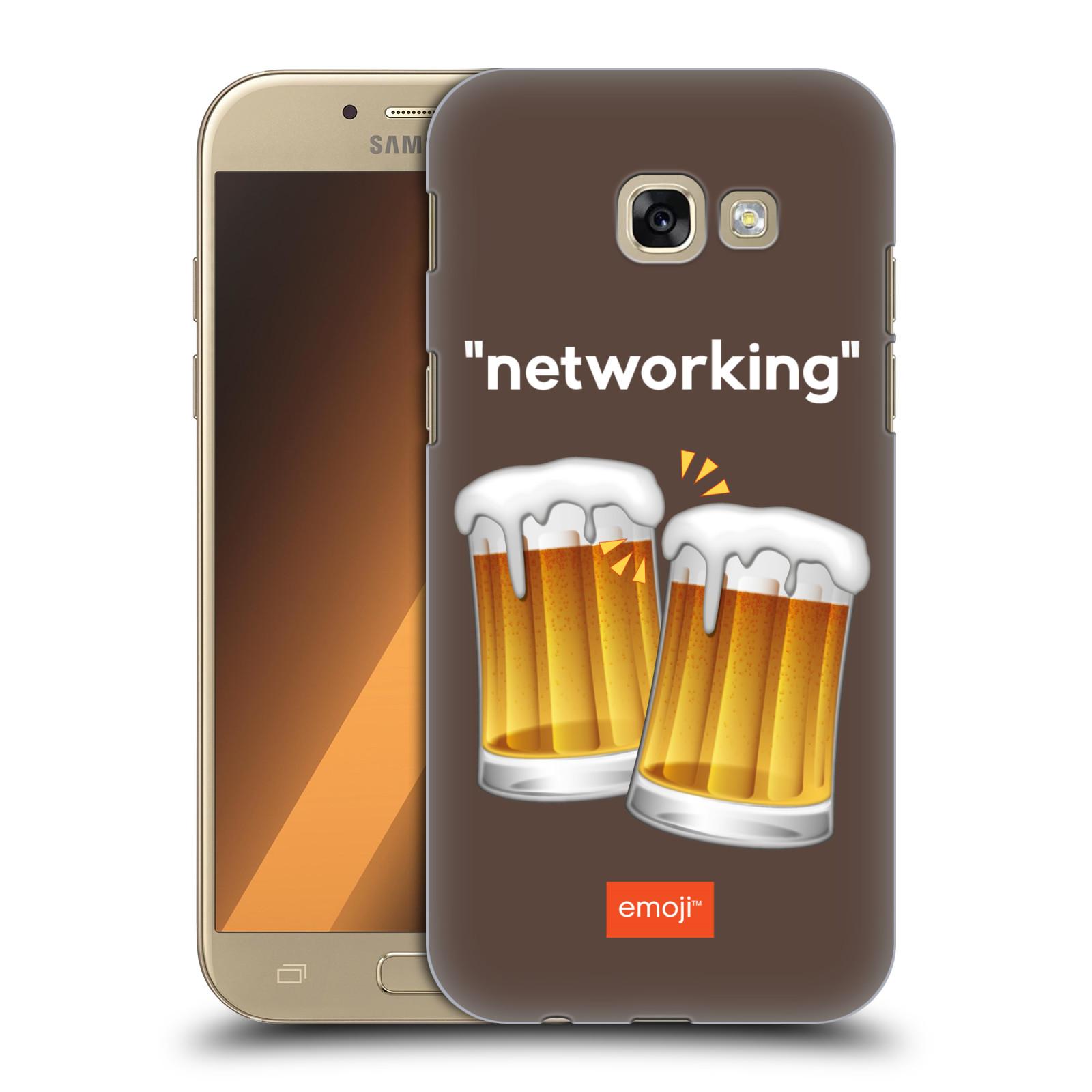 Plastové pouzdro na mobil Samsung Galaxy A5 (2017) HEAD CASE EMOJI - Pivní networking