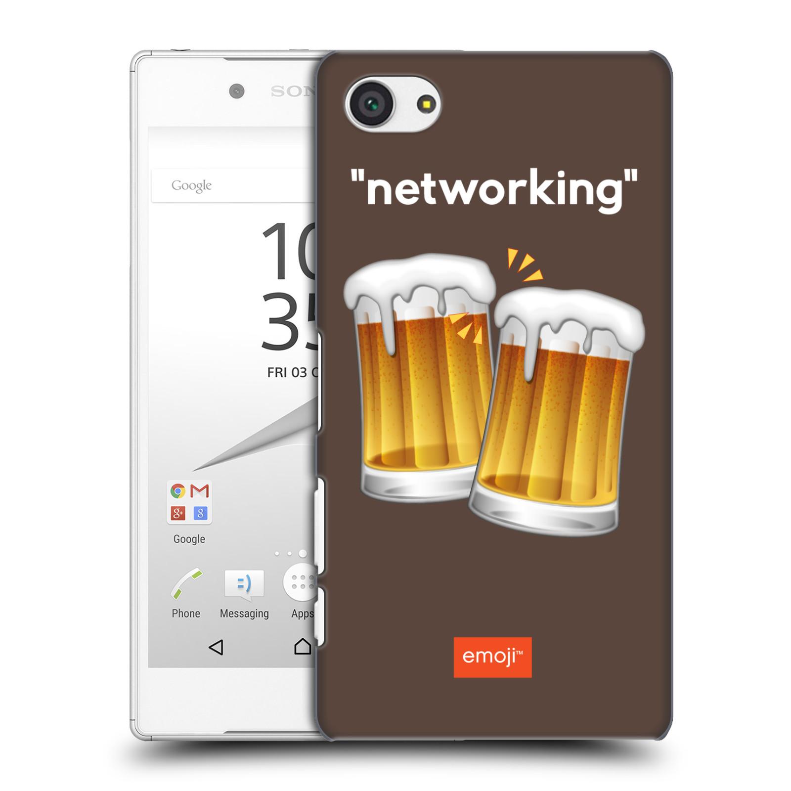 Plastové pouzdro na mobil Sony Xperia Z5 Compact HEAD CASE EMOJI - Pivní networking
